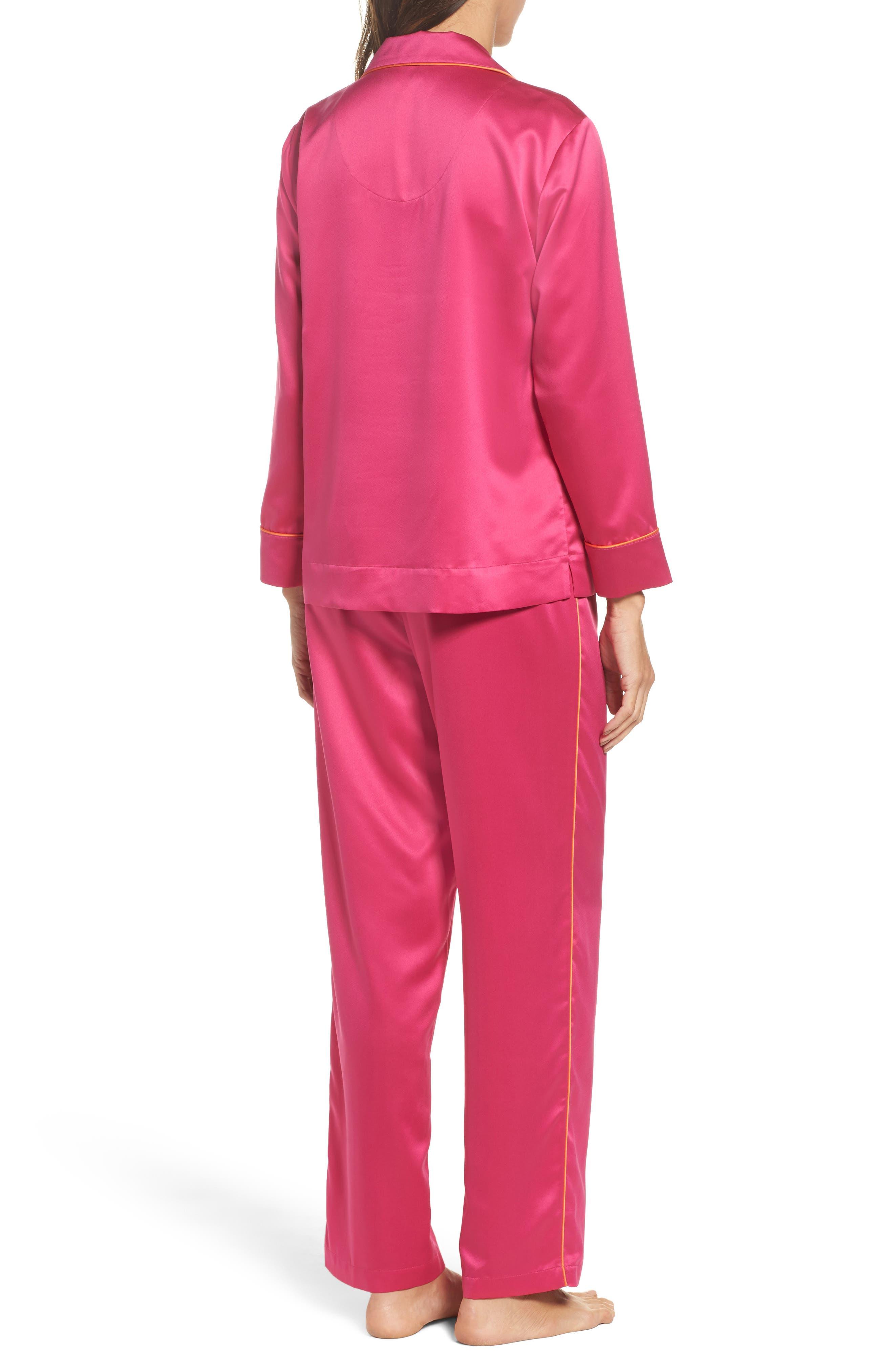 Satin Pajamas,                             Alternate thumbnail 2, color,                             Pink
