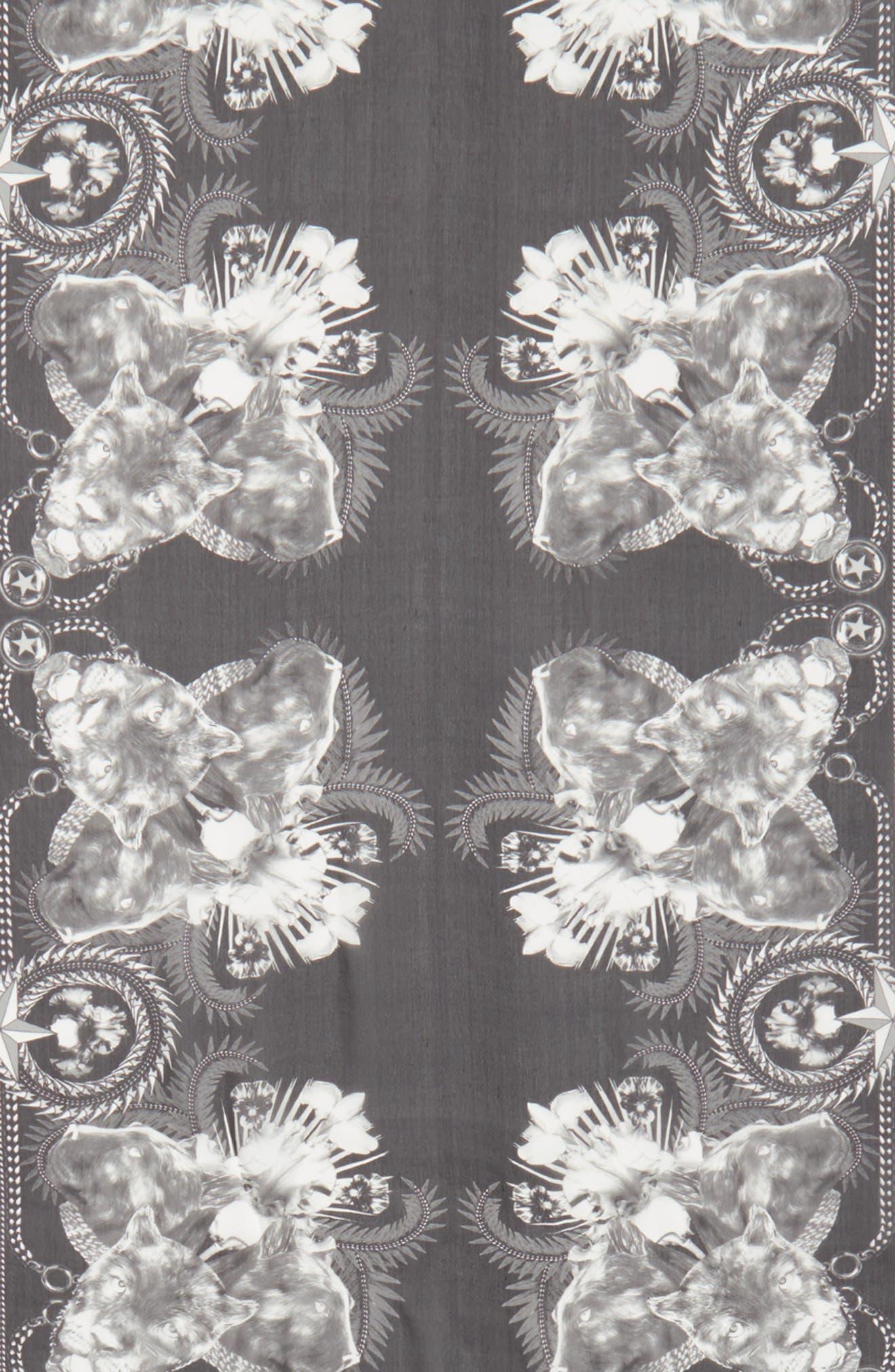Alternate Image 4  - Givenchy Panther Silk Chiffon Scarf