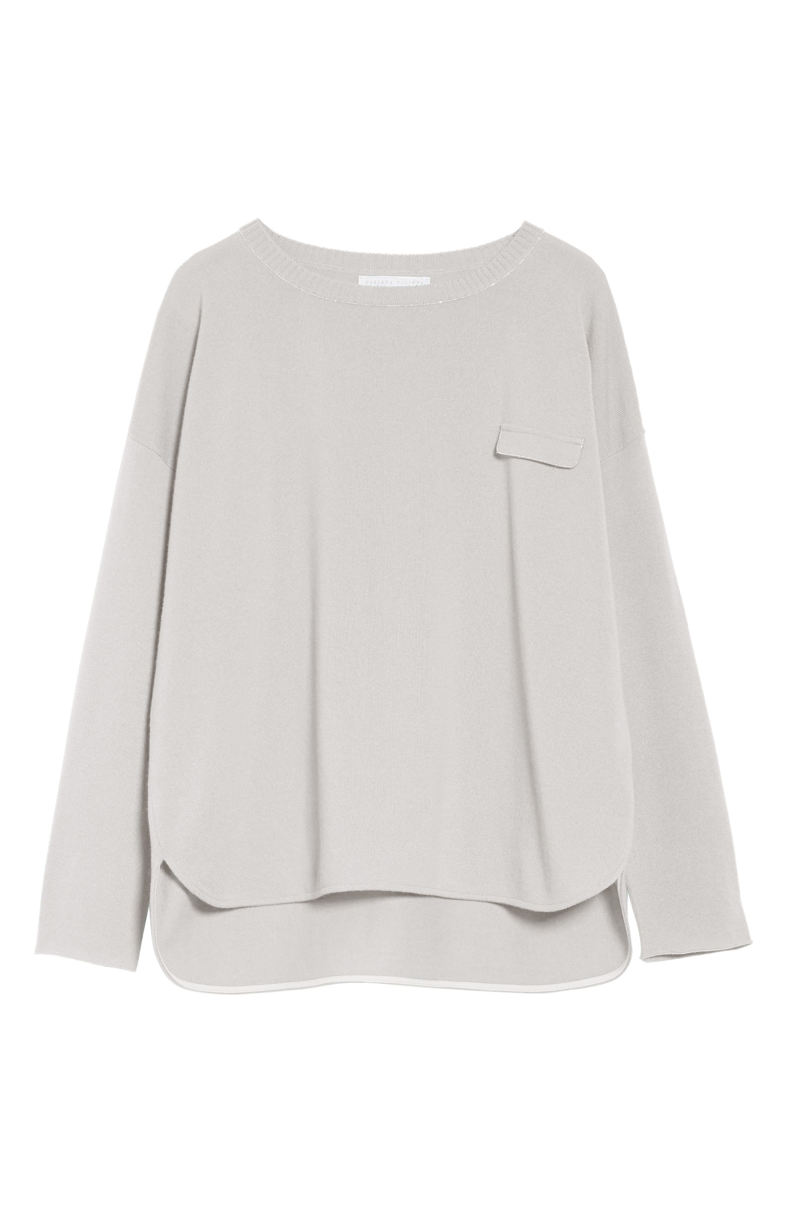 Alternate Image 6  - Fabiana Filippi Beaded Cashmere Sweater