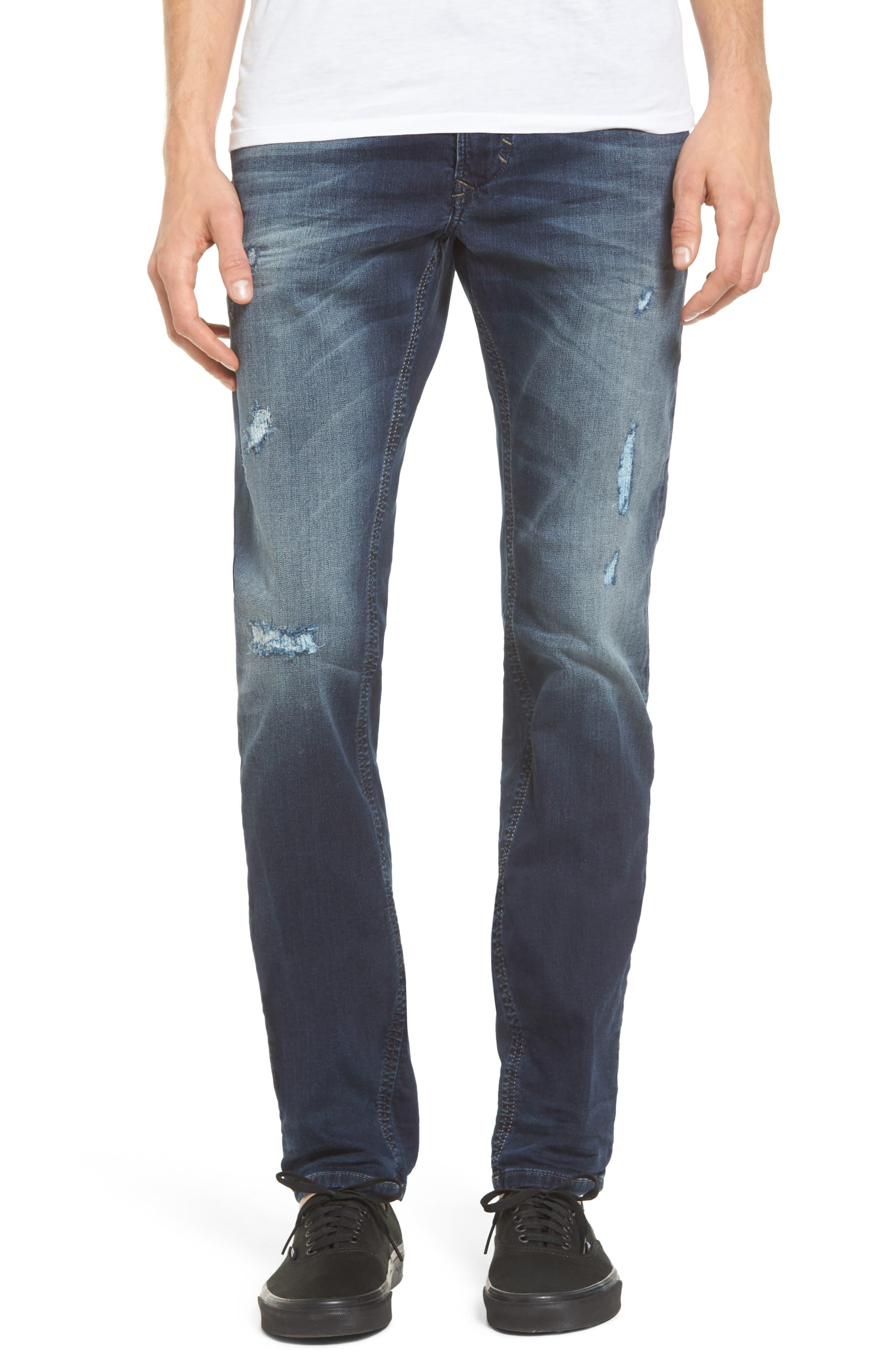 Thavar Skinny Fit Jeans,                         Main,                         color, Denim