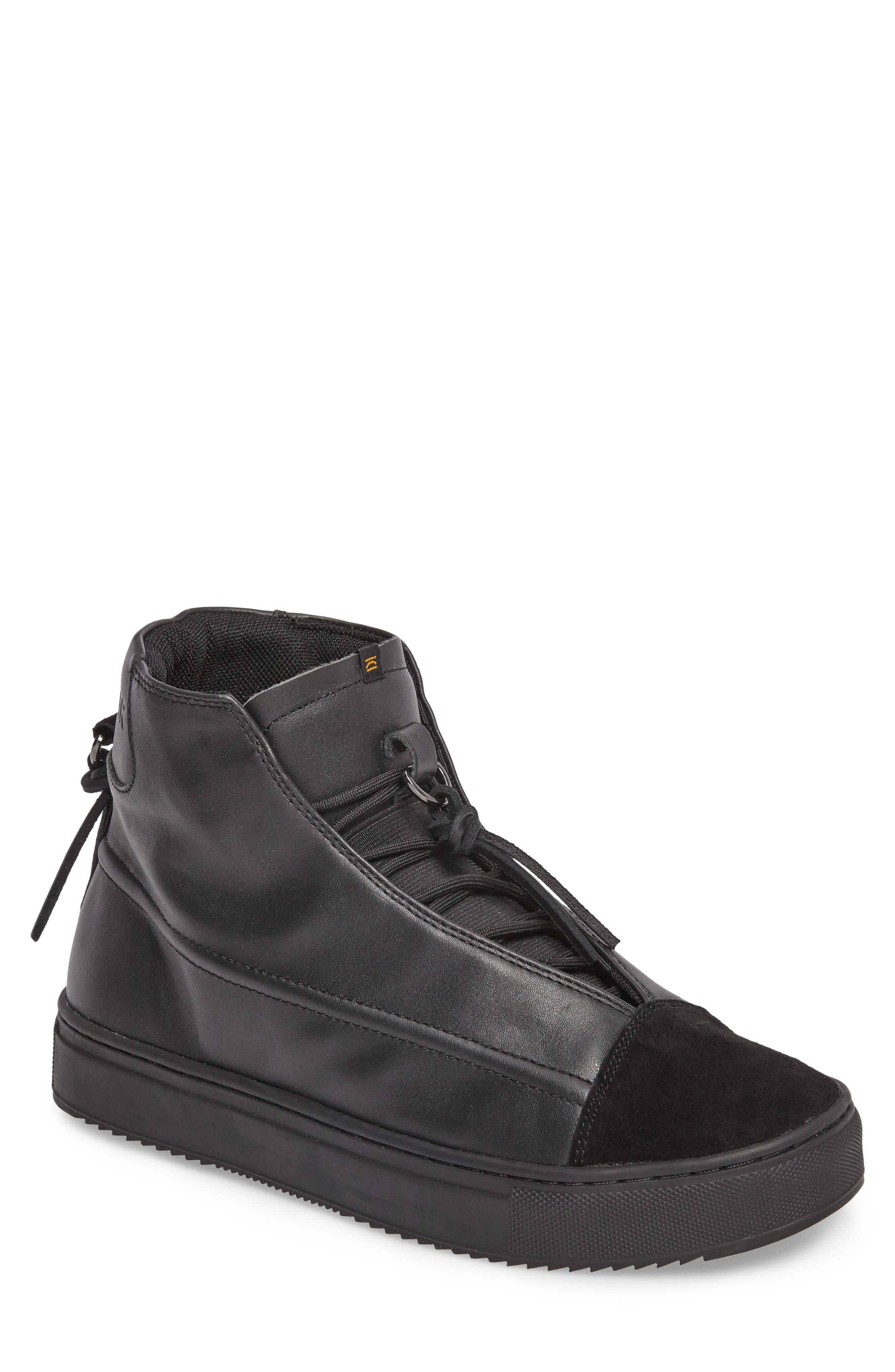 Sidney High Top Sneaker,                             Main thumbnail 1, color,                             Black