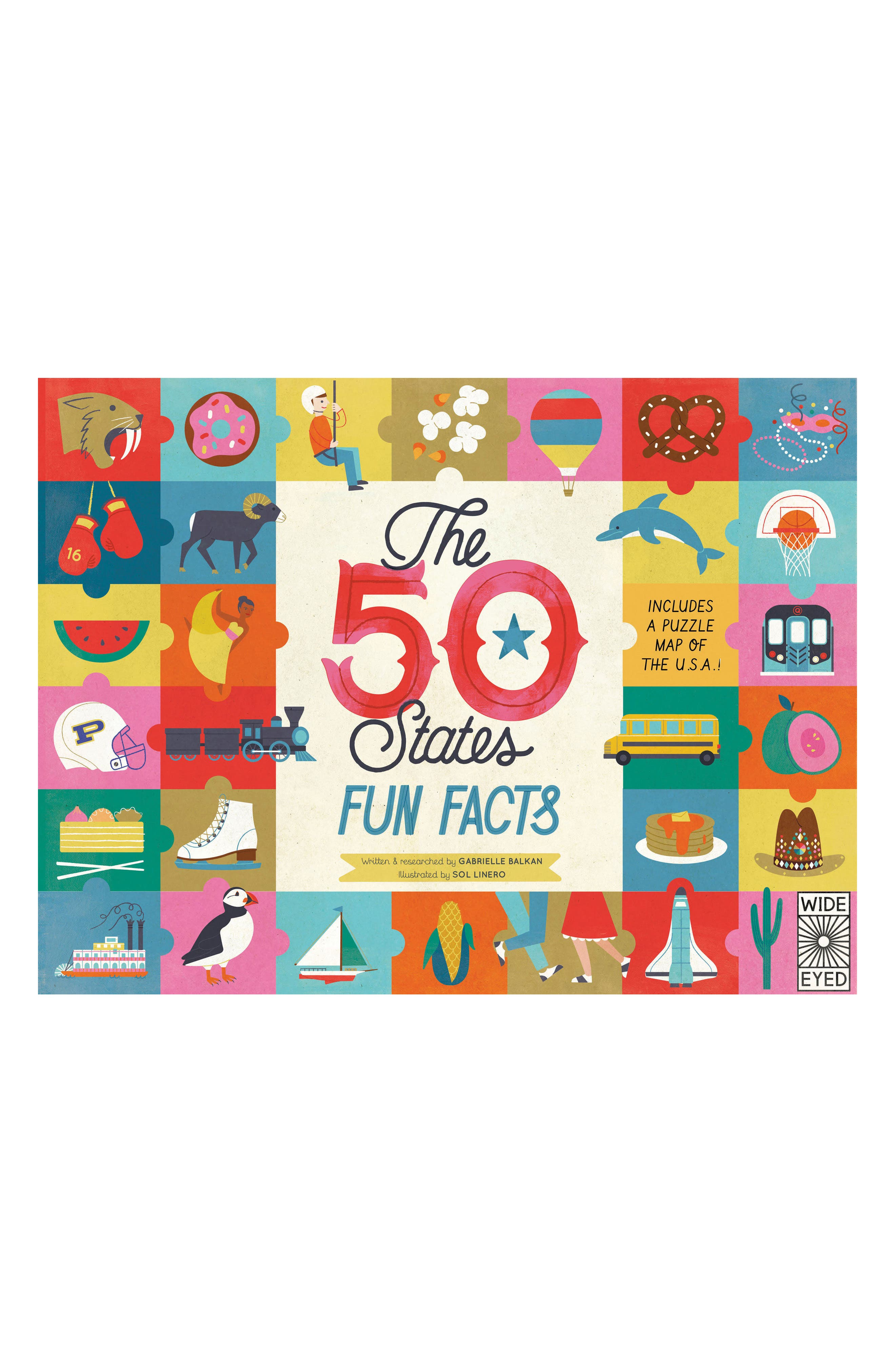 'The 50 States: Fun Facts' Activity Book