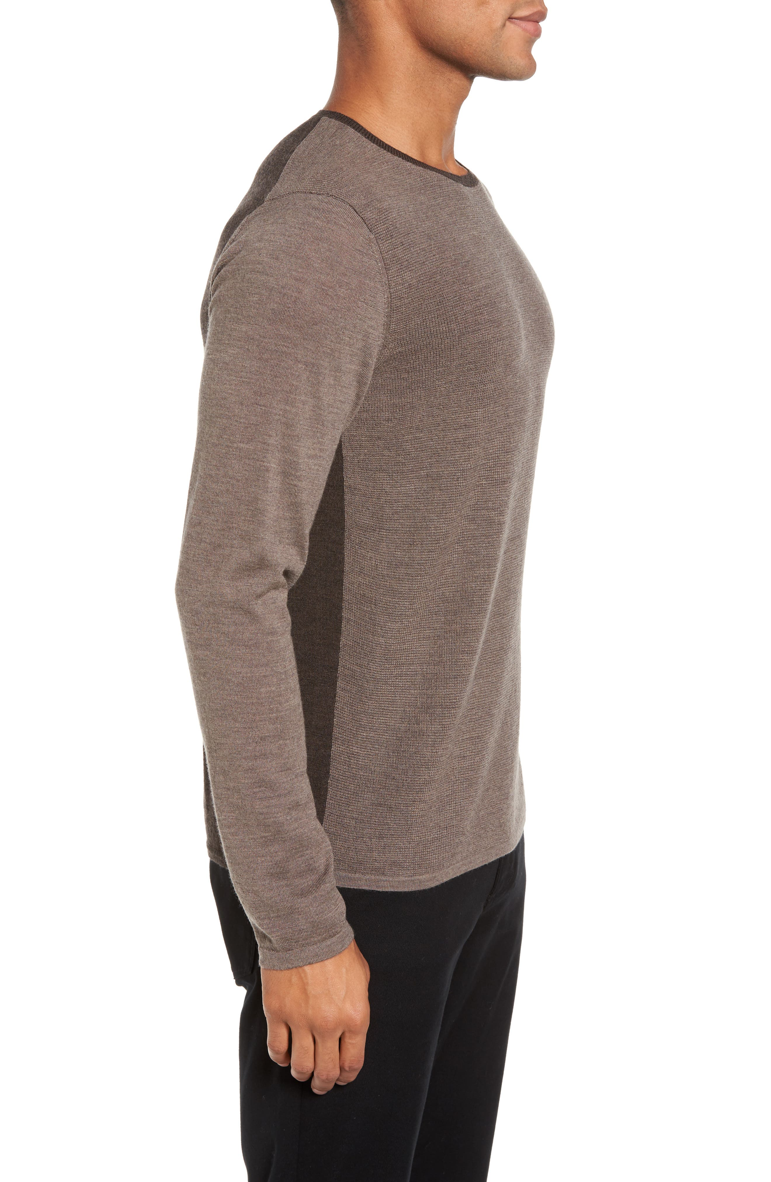 Huxley Merino Sweater,                             Alternate thumbnail 3, color,                             Light Coffee