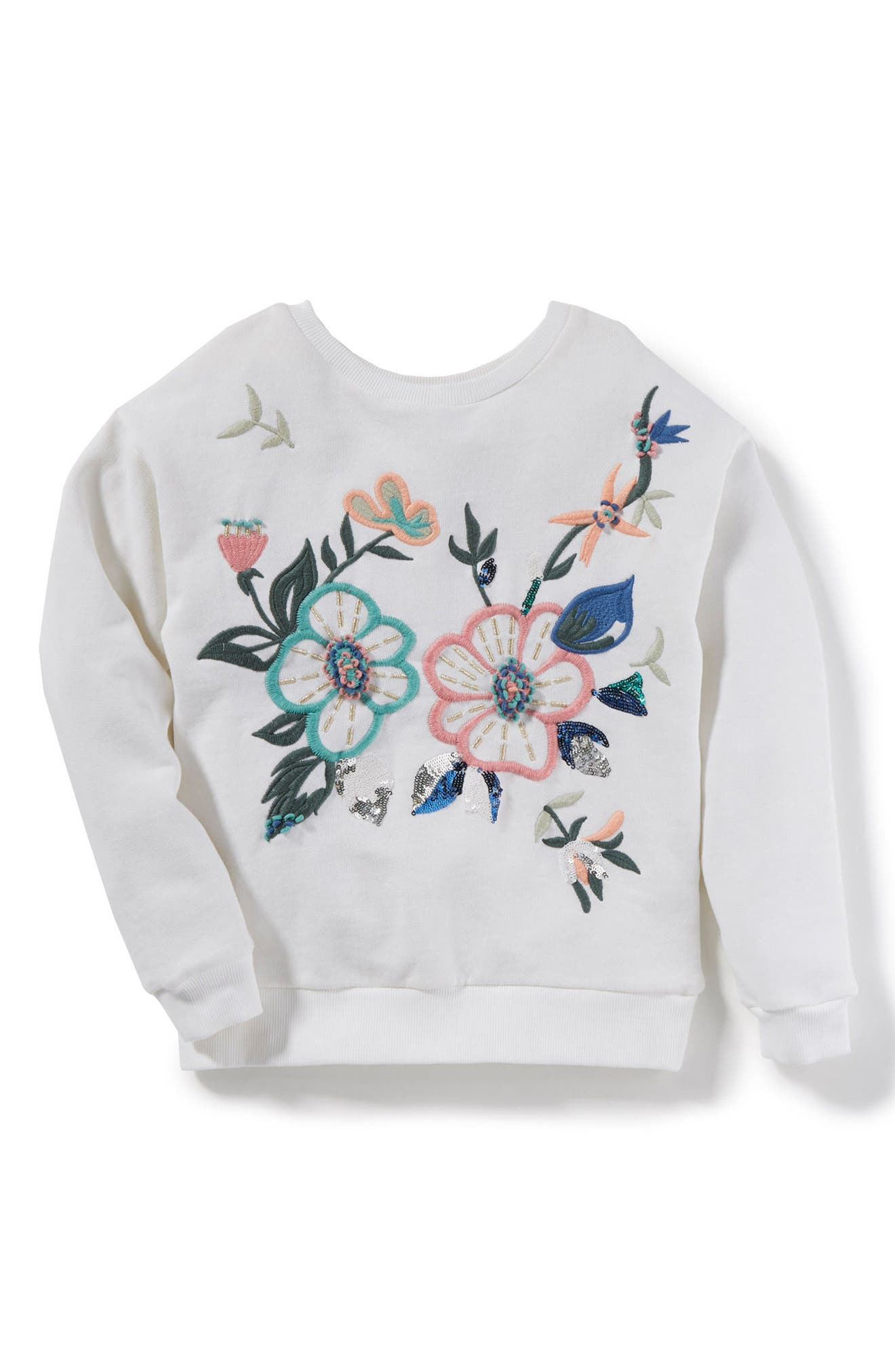 Kayla Sweatshirt,                             Main thumbnail 1, color,                             White