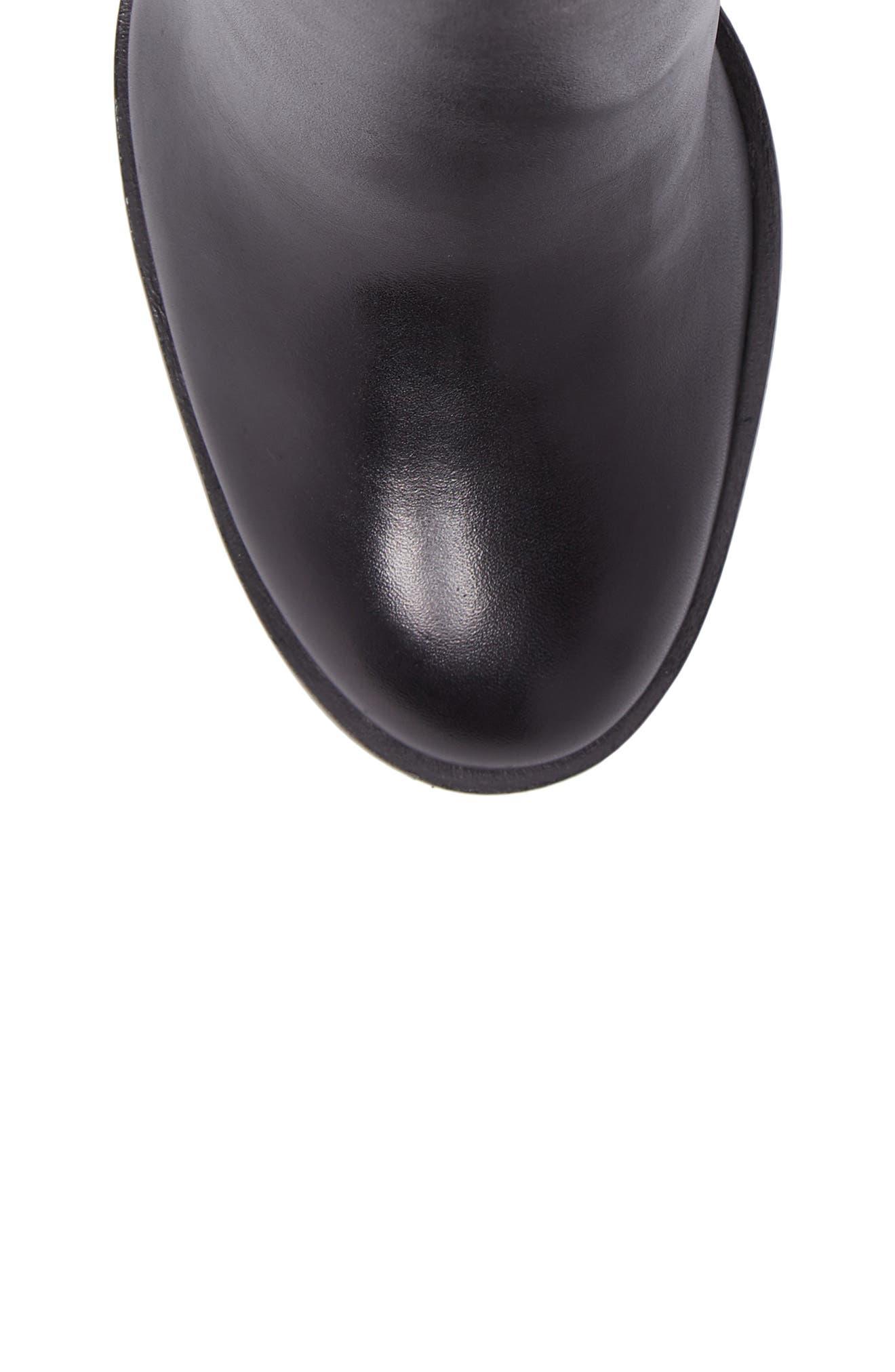 Mena Bootie,                             Alternate thumbnail 5, color,                             Black Leather
