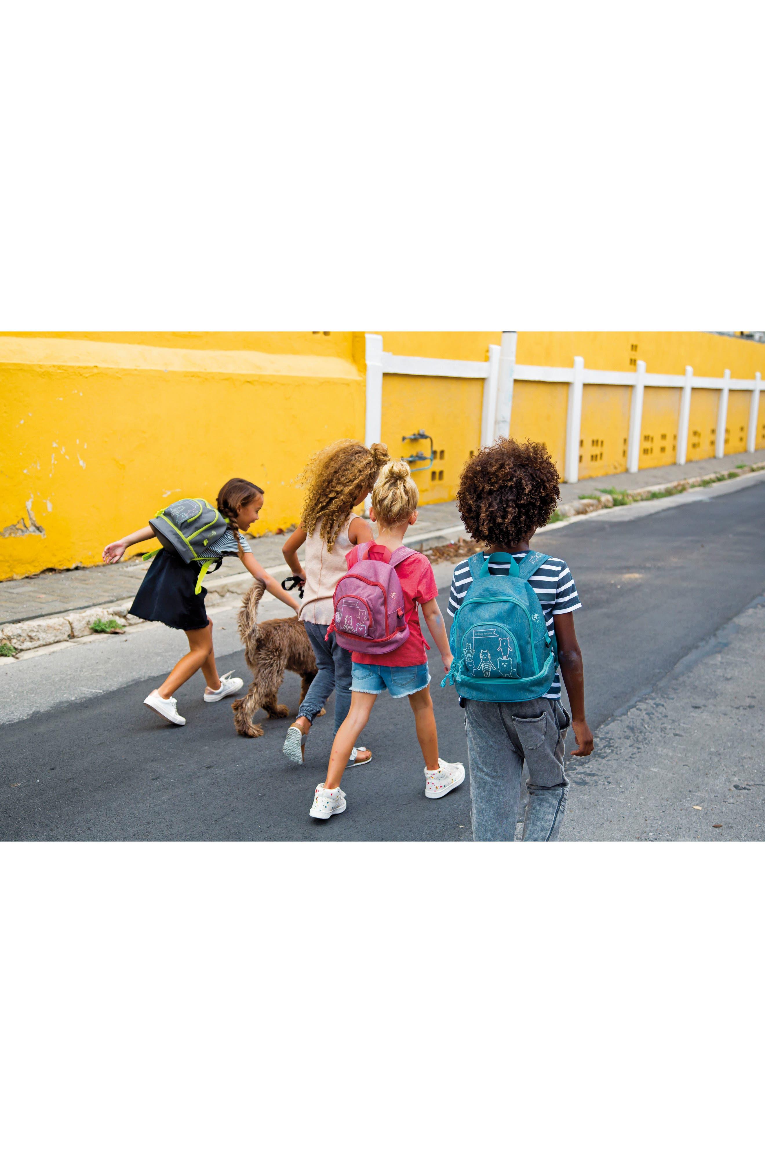 Mini About Friends Duffel Bag,                             Alternate thumbnail 7, color,                             Melange Grey