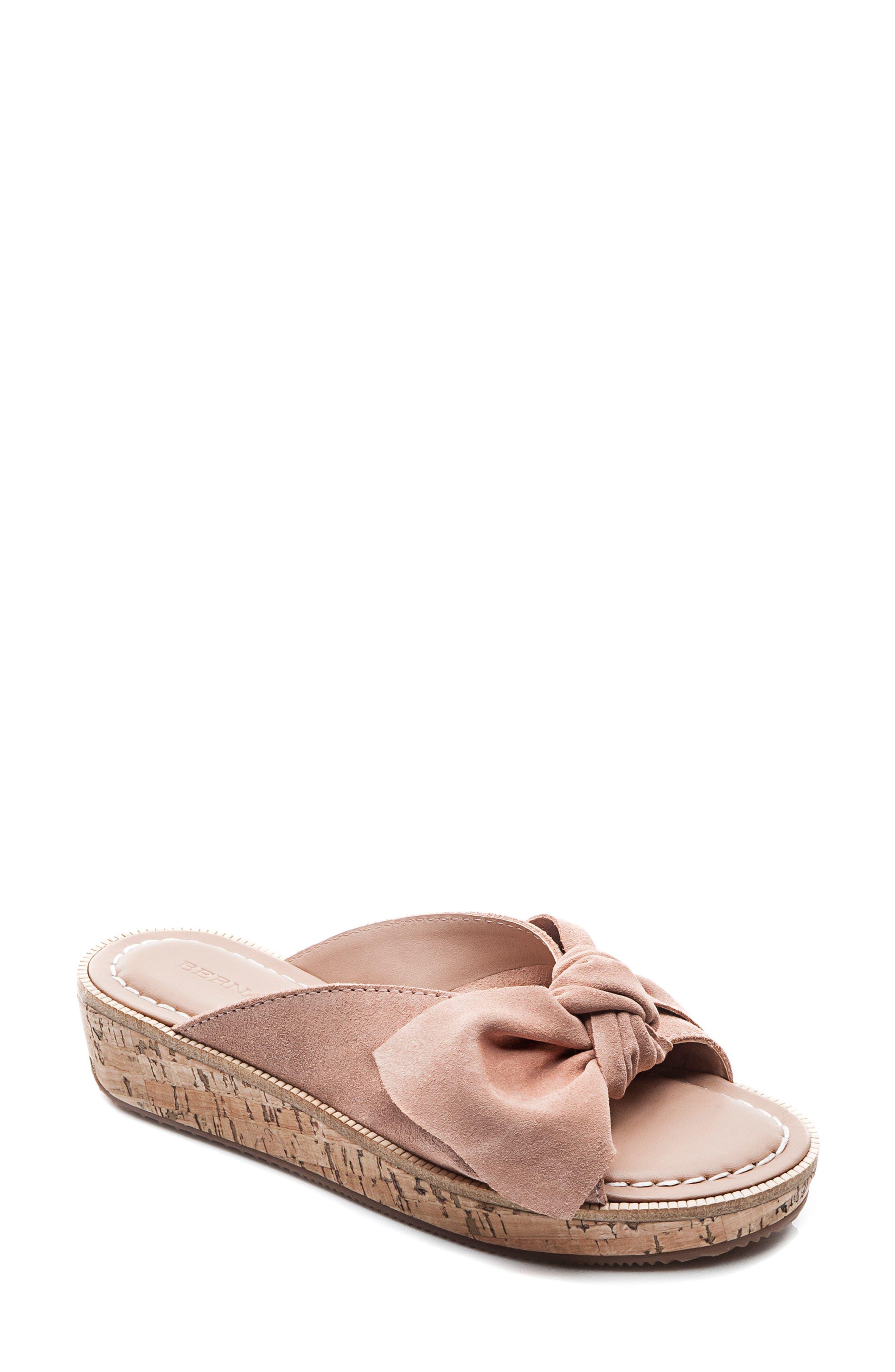 Bernardo Petra Slide Sandal,                             Main thumbnail 1, color,                             Blush Leather