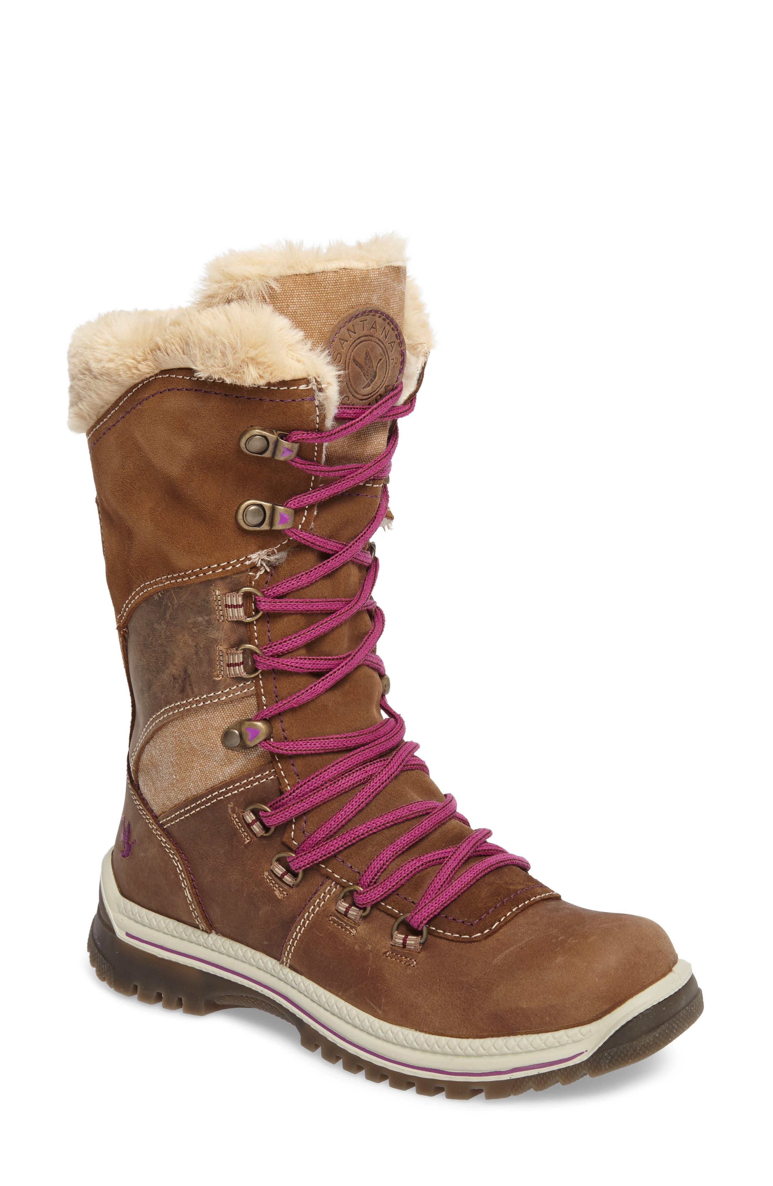 Santana Canada 'Morella' Water Resistant Faux Fur Boot (Women)