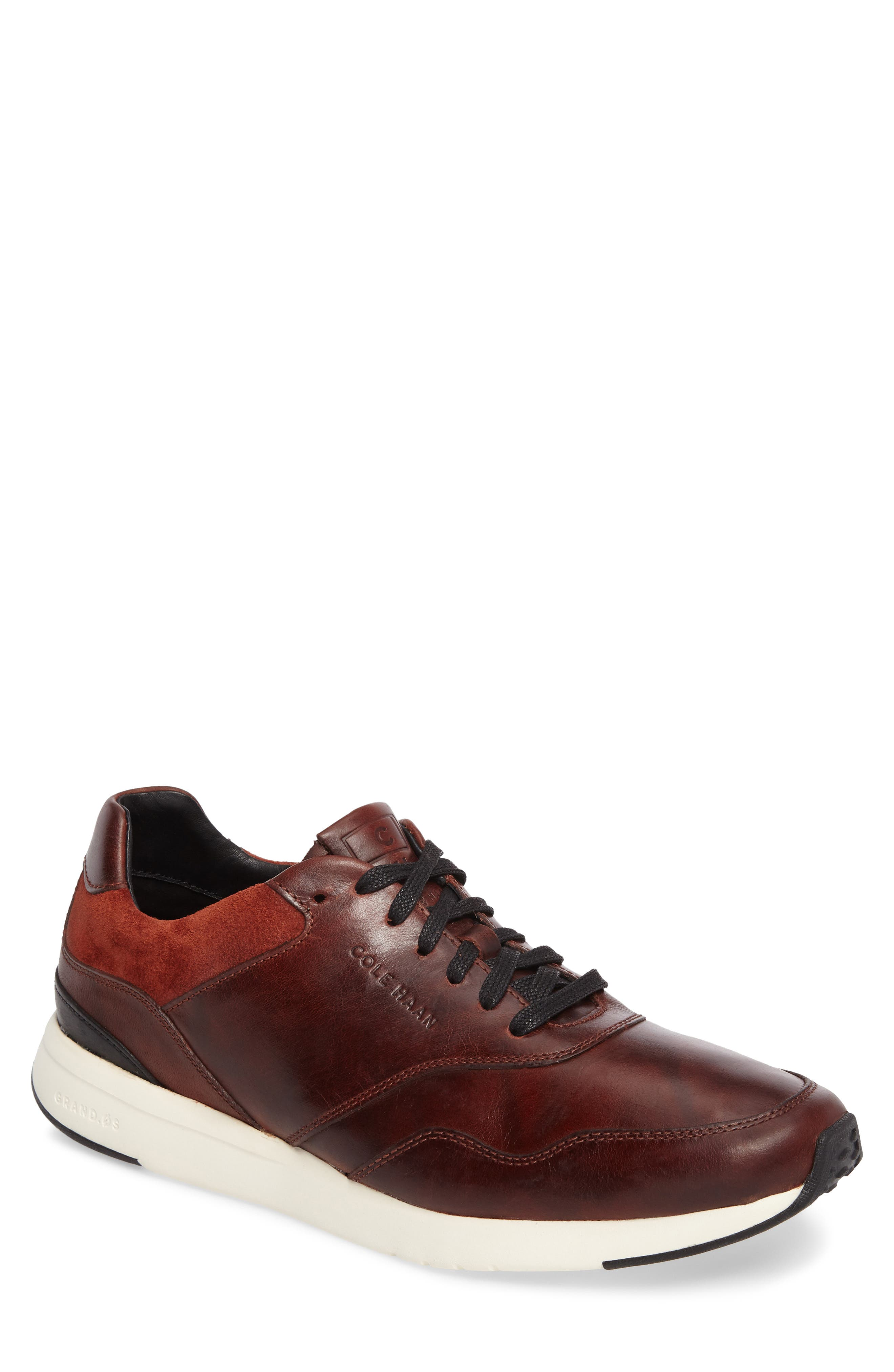 GrandPro Runner Sneaker,                         Main,                         color, Brandy Pull Up Leather