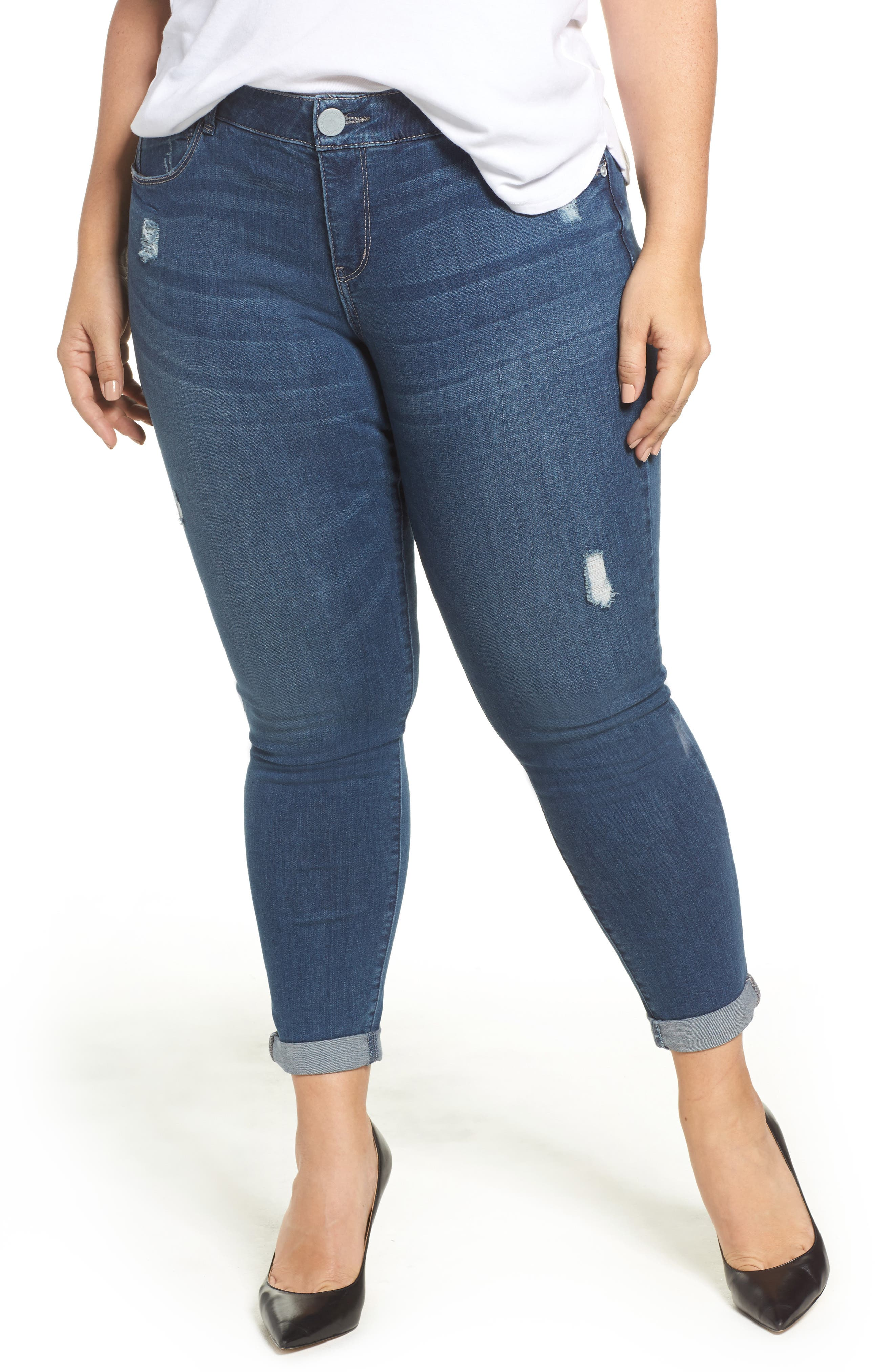 Main Image - Wit & Wisdom Ab-solution Boyfriend Ankle Jeans (Plus Size) (Nordstrom Exclusive)