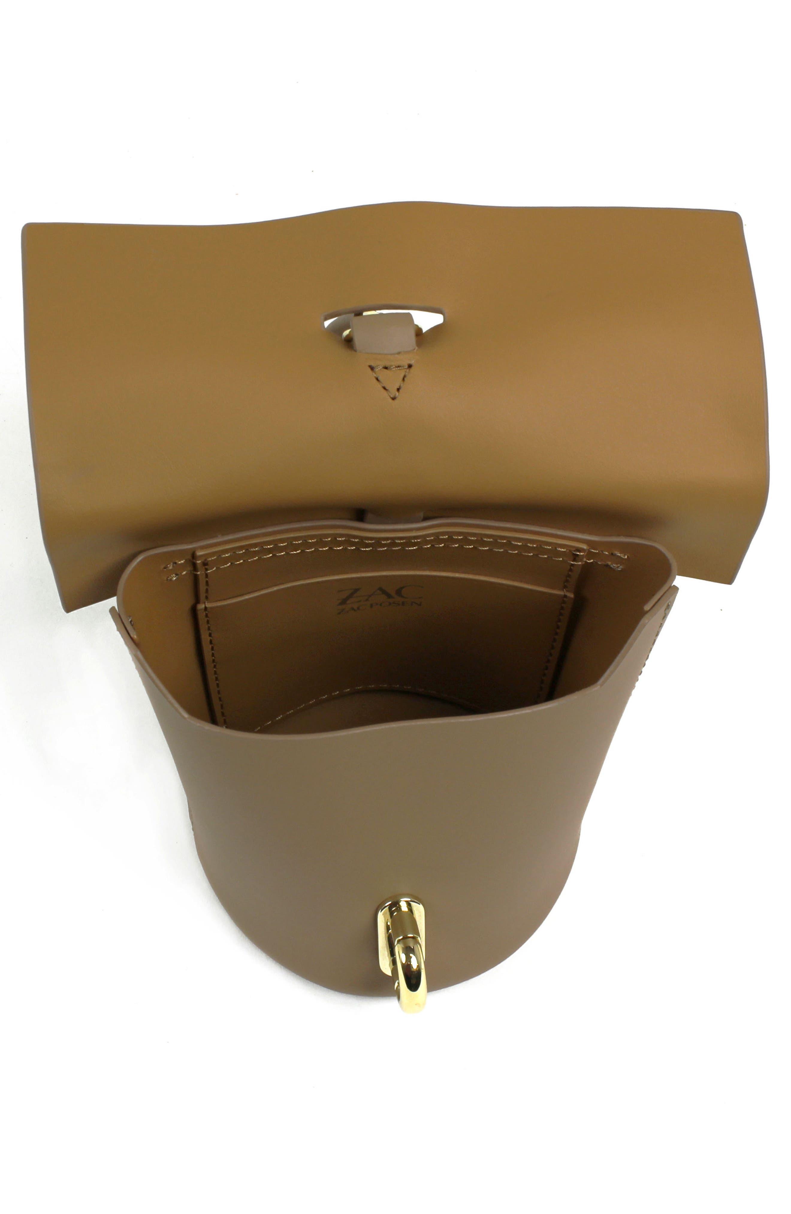 Belay Leather Bucket Bag,                             Alternate thumbnail 3, color,                             Seagull