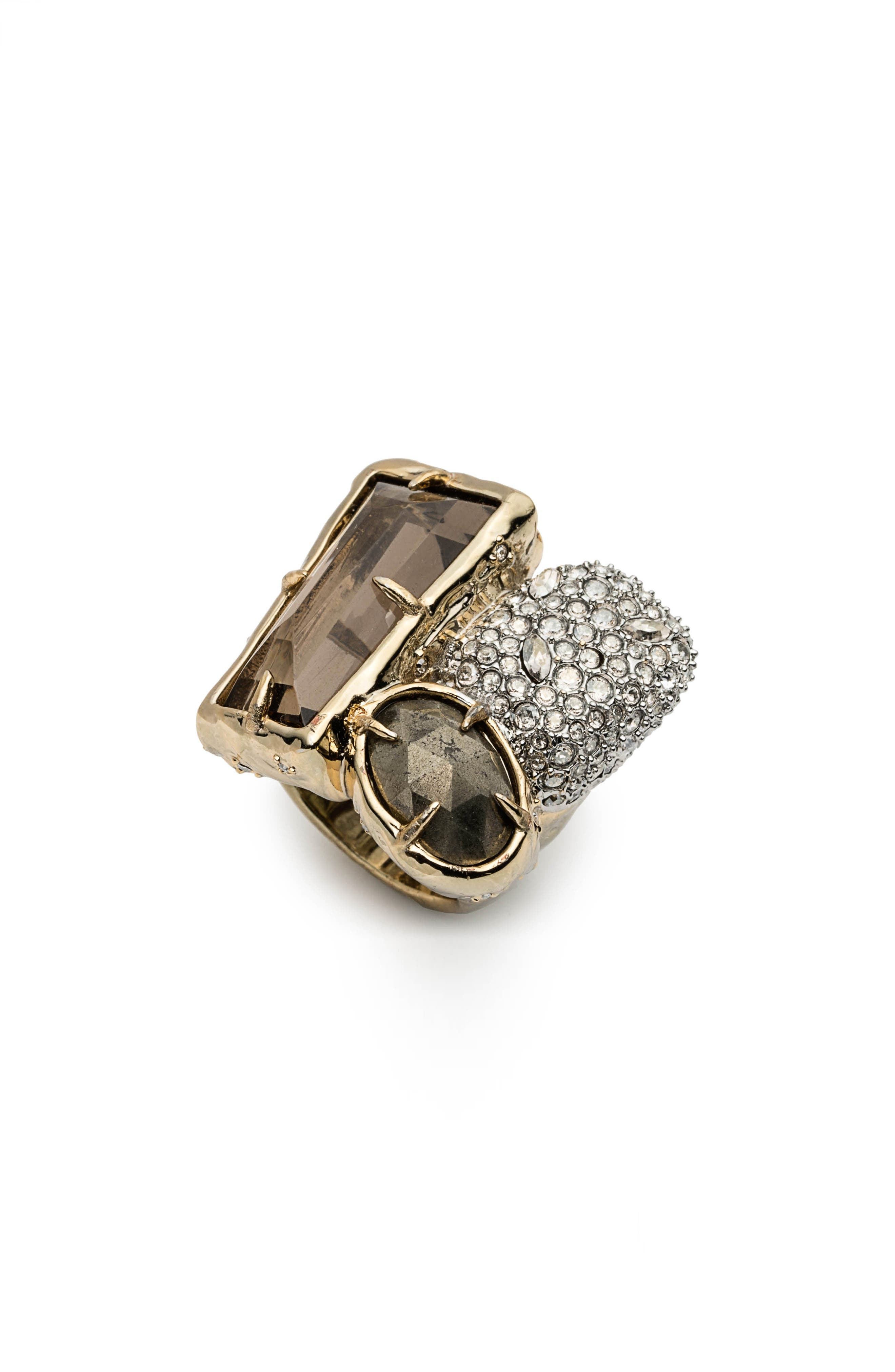 Elements Crystal Statement Ring,                         Main,                         color, Gold