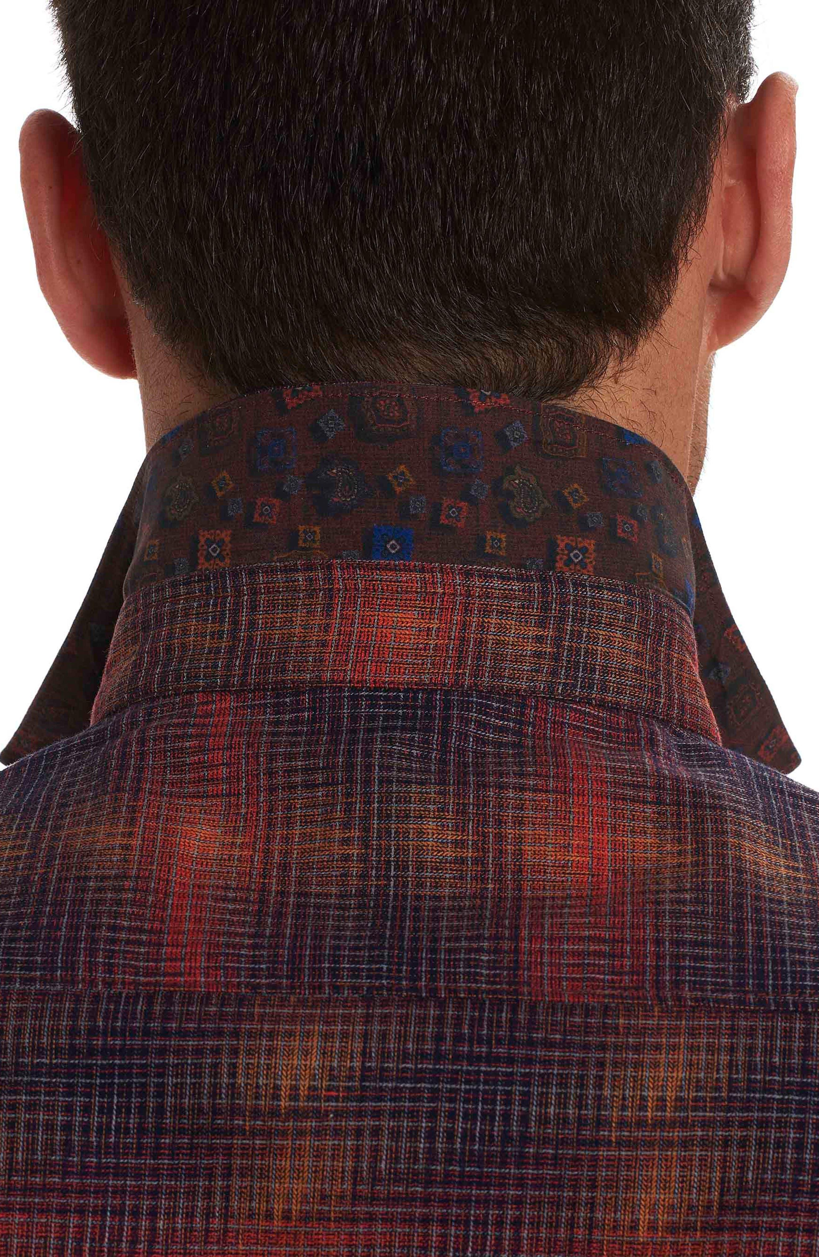Lumberman Tailored Fit Sport Shirt,                             Alternate thumbnail 3, color,                             Red