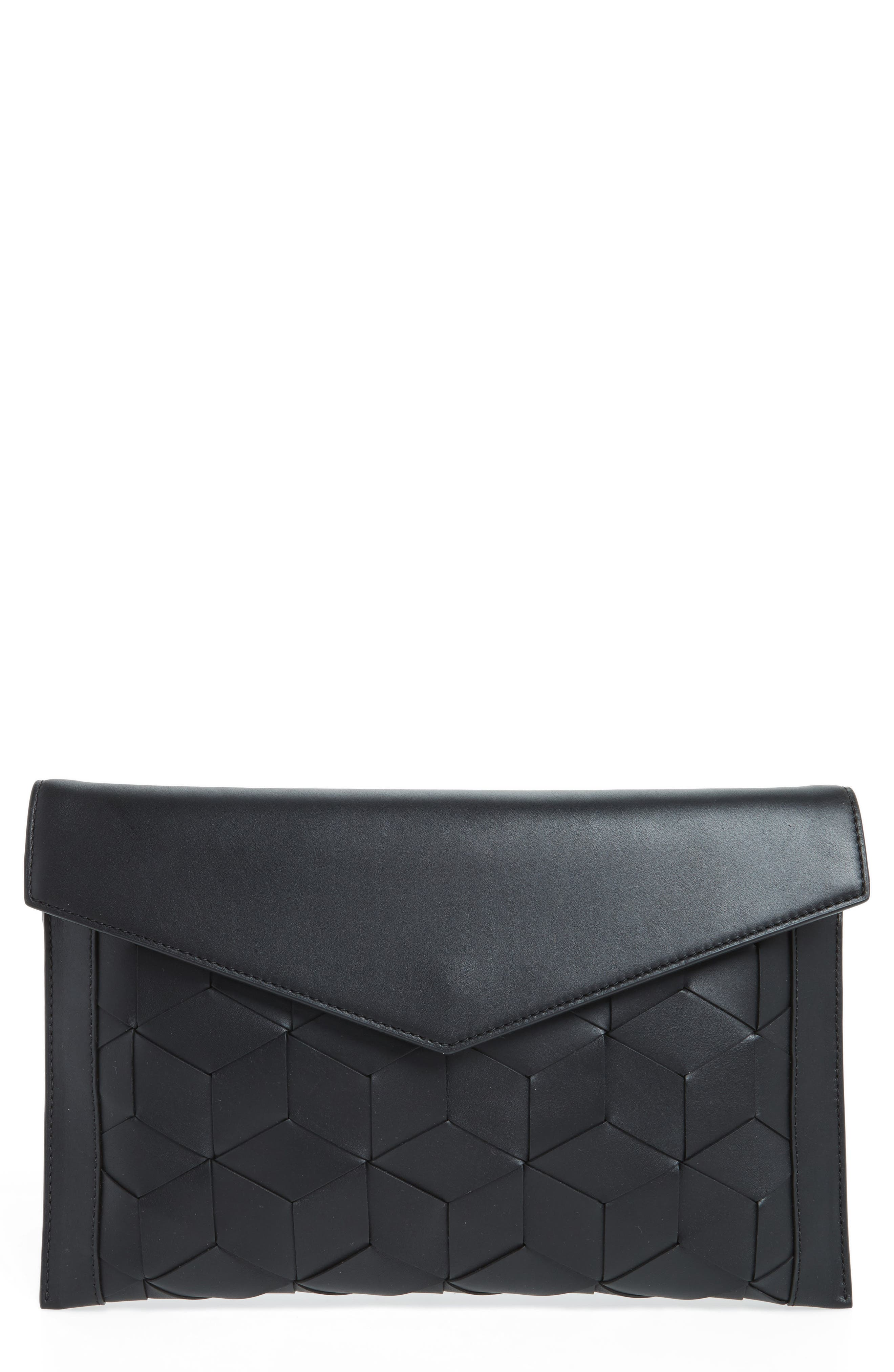 Main Image - Welden Mingle Woven Calfskin Leather Clutch