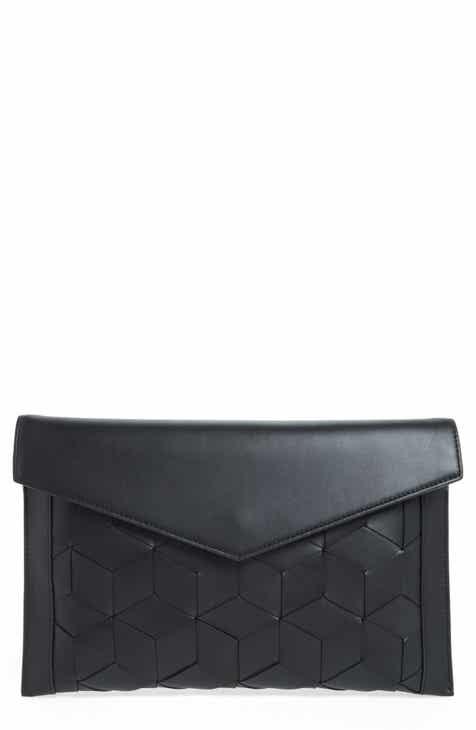 Welden Mingle Woven Calfskin Leather Clutch