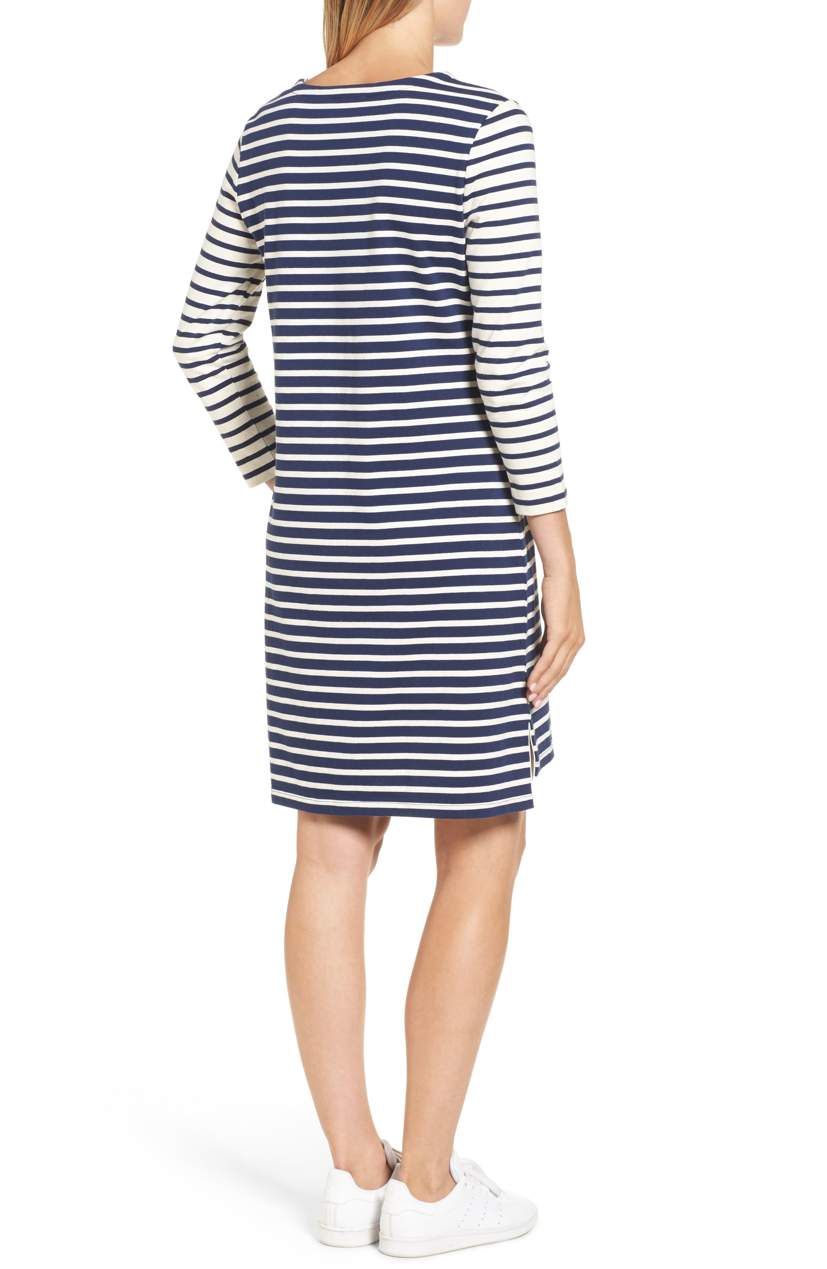 Alternate Image 2  - vineyard vines Mixed Stripe Knit Dress