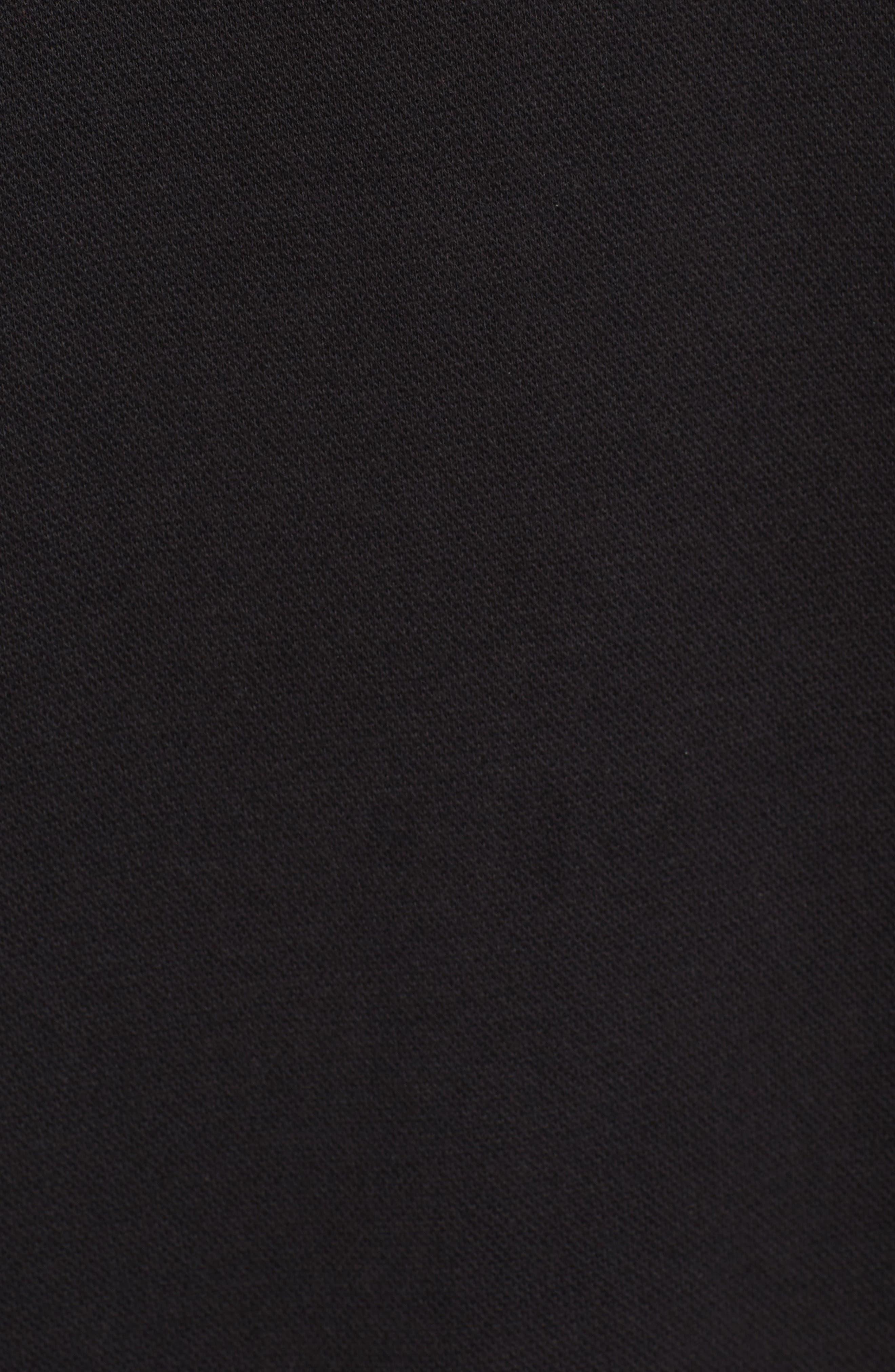 Hoodie Dress,                             Alternate thumbnail 5, color,                             Black