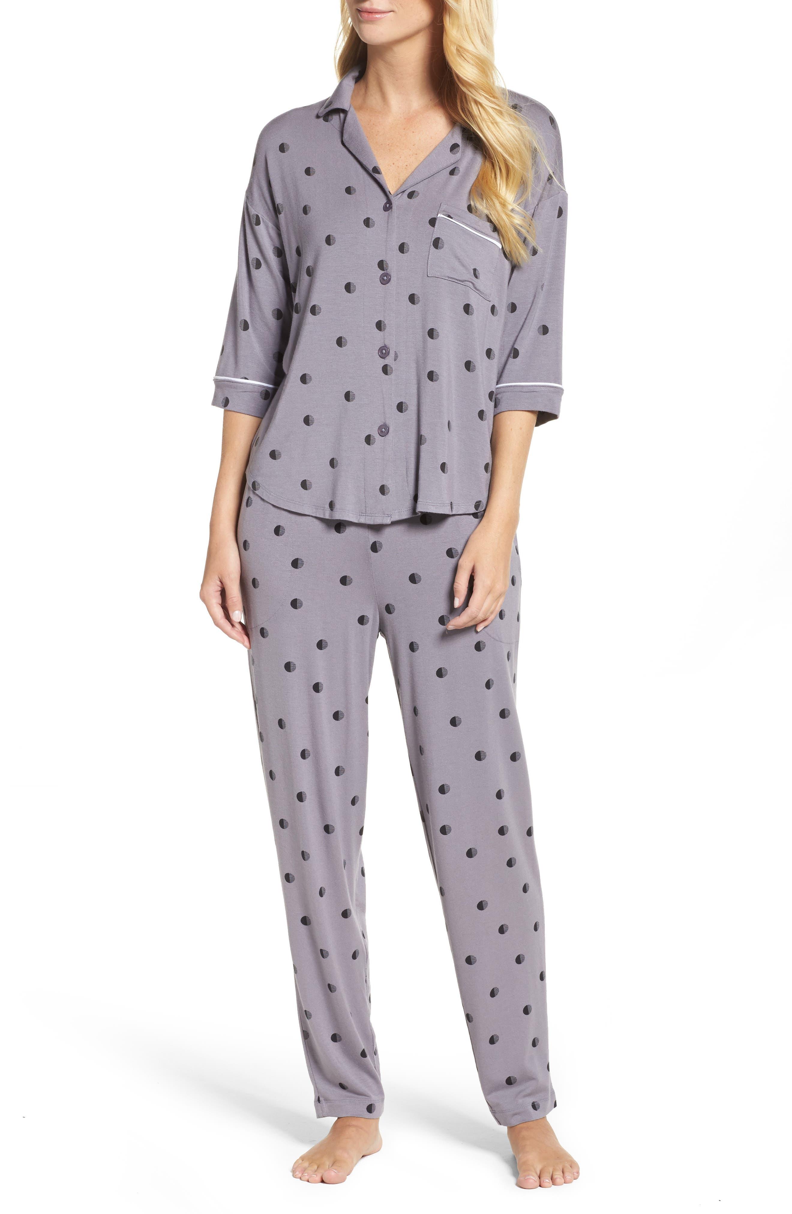 Alternate Image 1 Selected - DKNY Jersey Pajamas