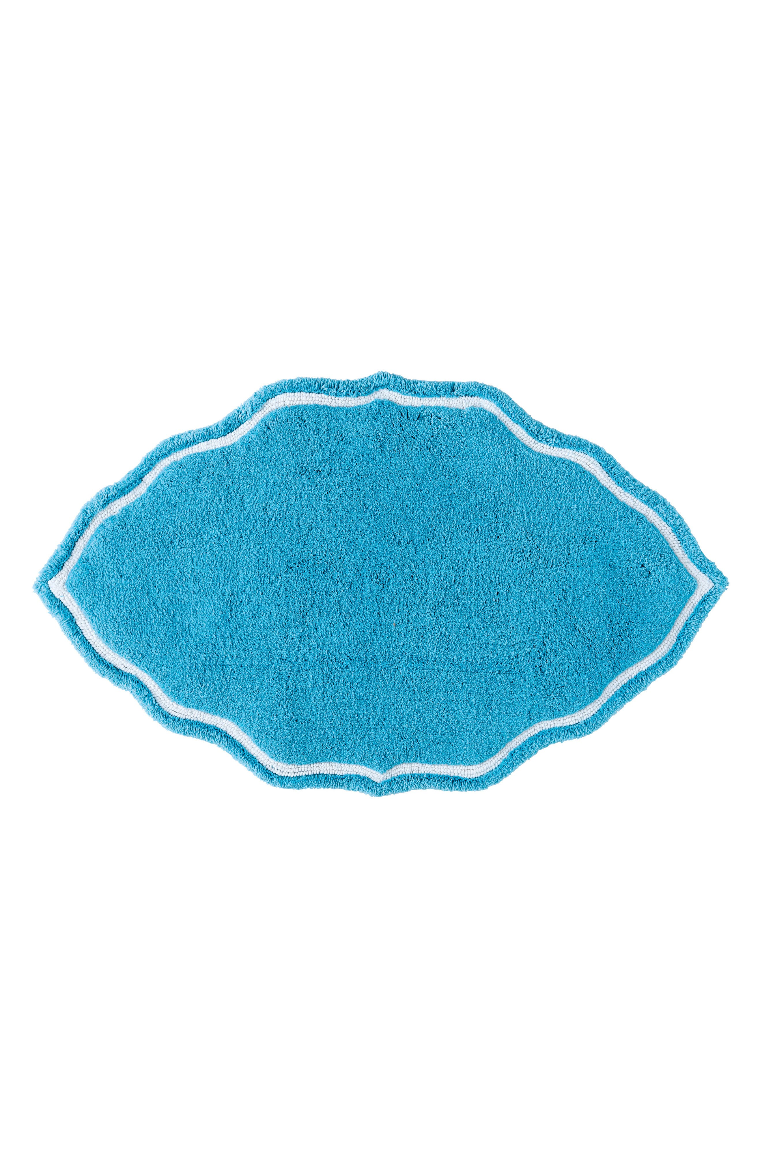 Signature Hand Tufted Bath Rug,                         Main,                         color, Peacock Blue