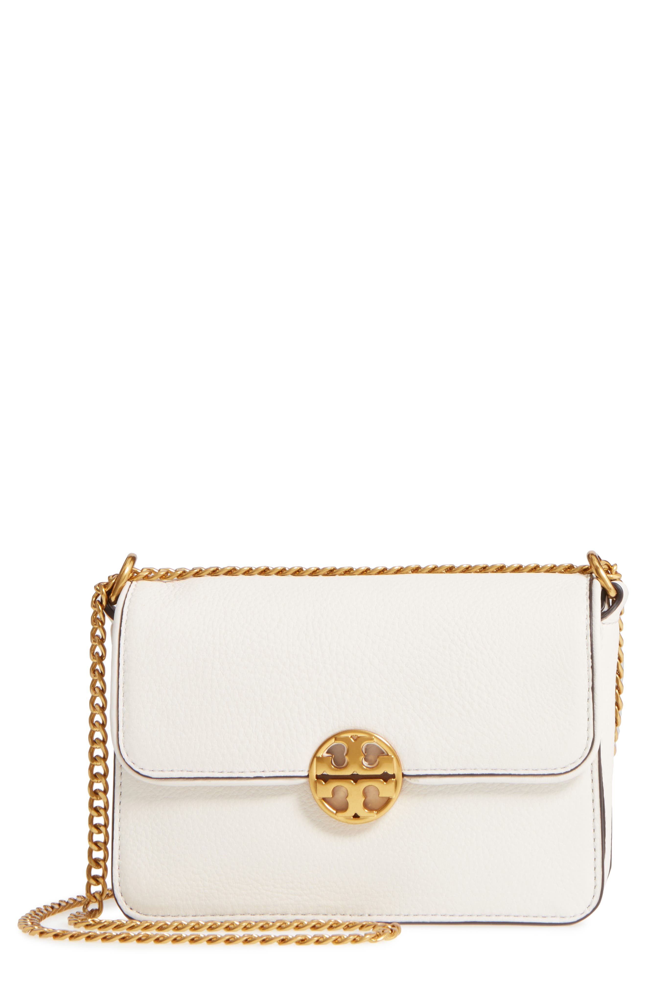 Mini Chelsea Leather Convertible Crossbody Bag,                         Main,                         color, New Ivory