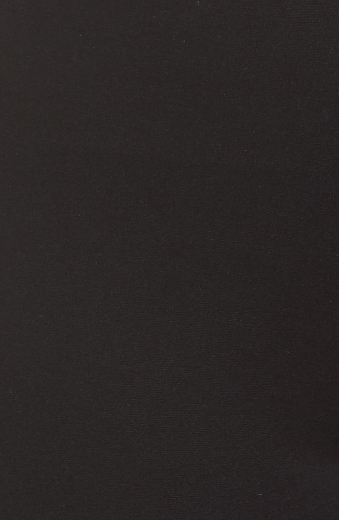 Mara Seamed Ponte Leggings,                             Alternate thumbnail 7, color,                             Black