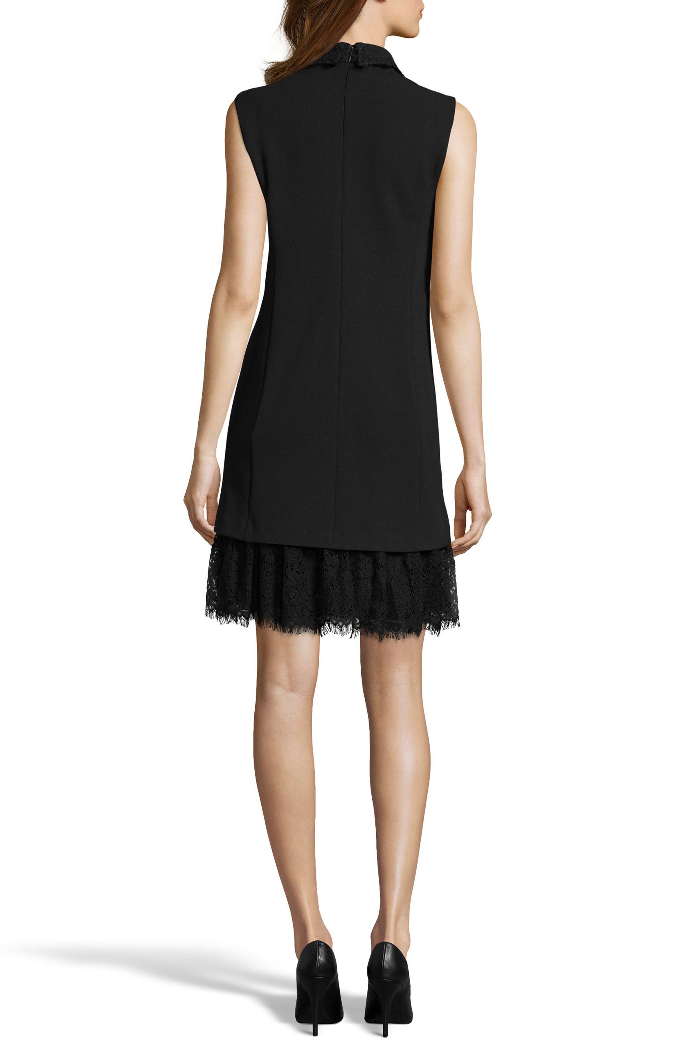 Alternate Image 2  - ECI Embellished Crepe Shift Dress