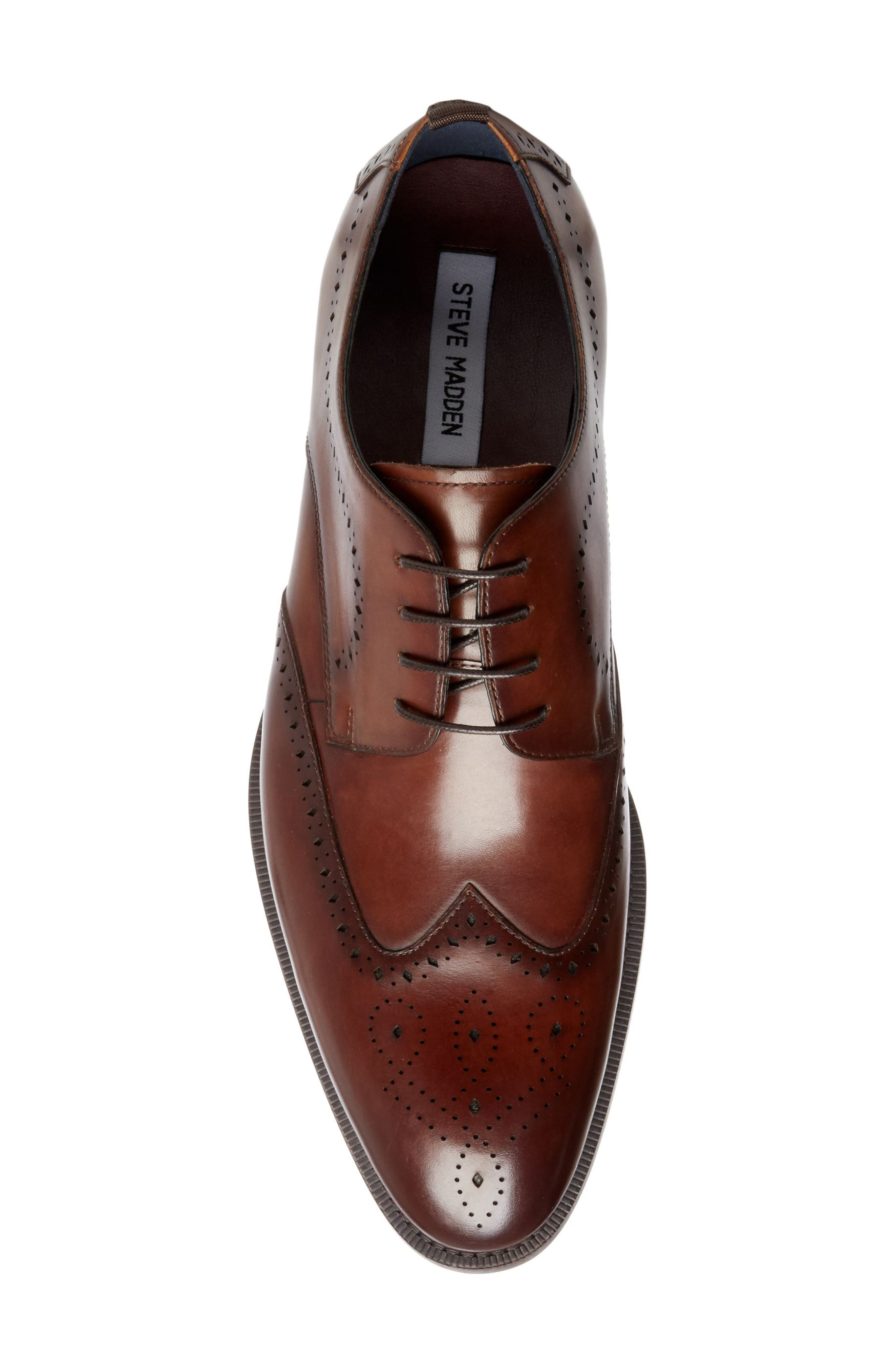 Candyd Wingtip,                             Alternate thumbnail 5, color,                             Brown Leather