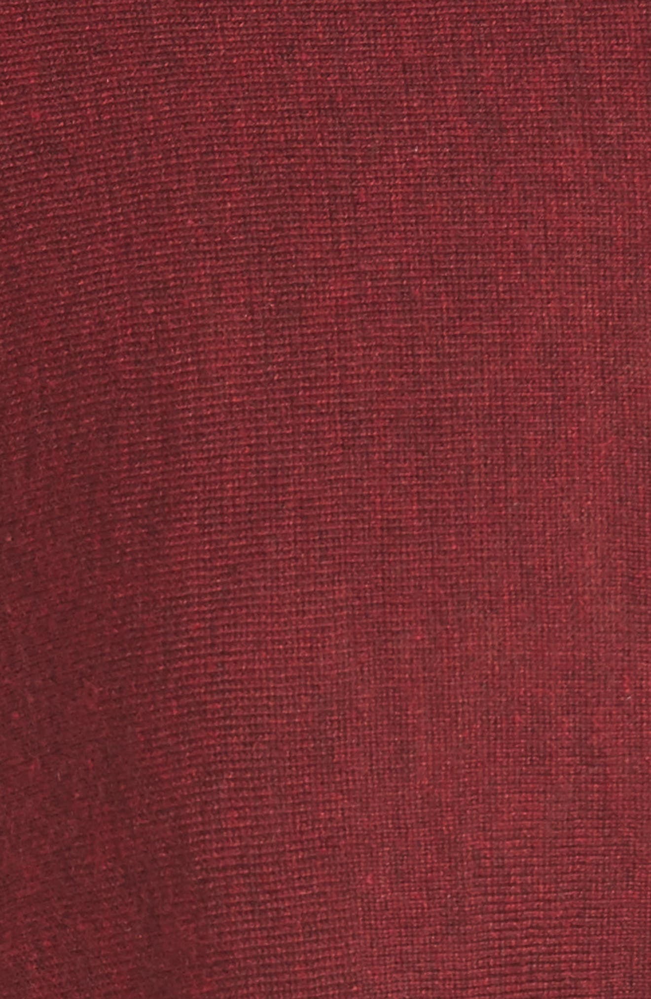 Tencel<sup>®</sup> Lyocell Blend High/Low Sweater,                             Alternate thumbnail 5, color,                             Claret