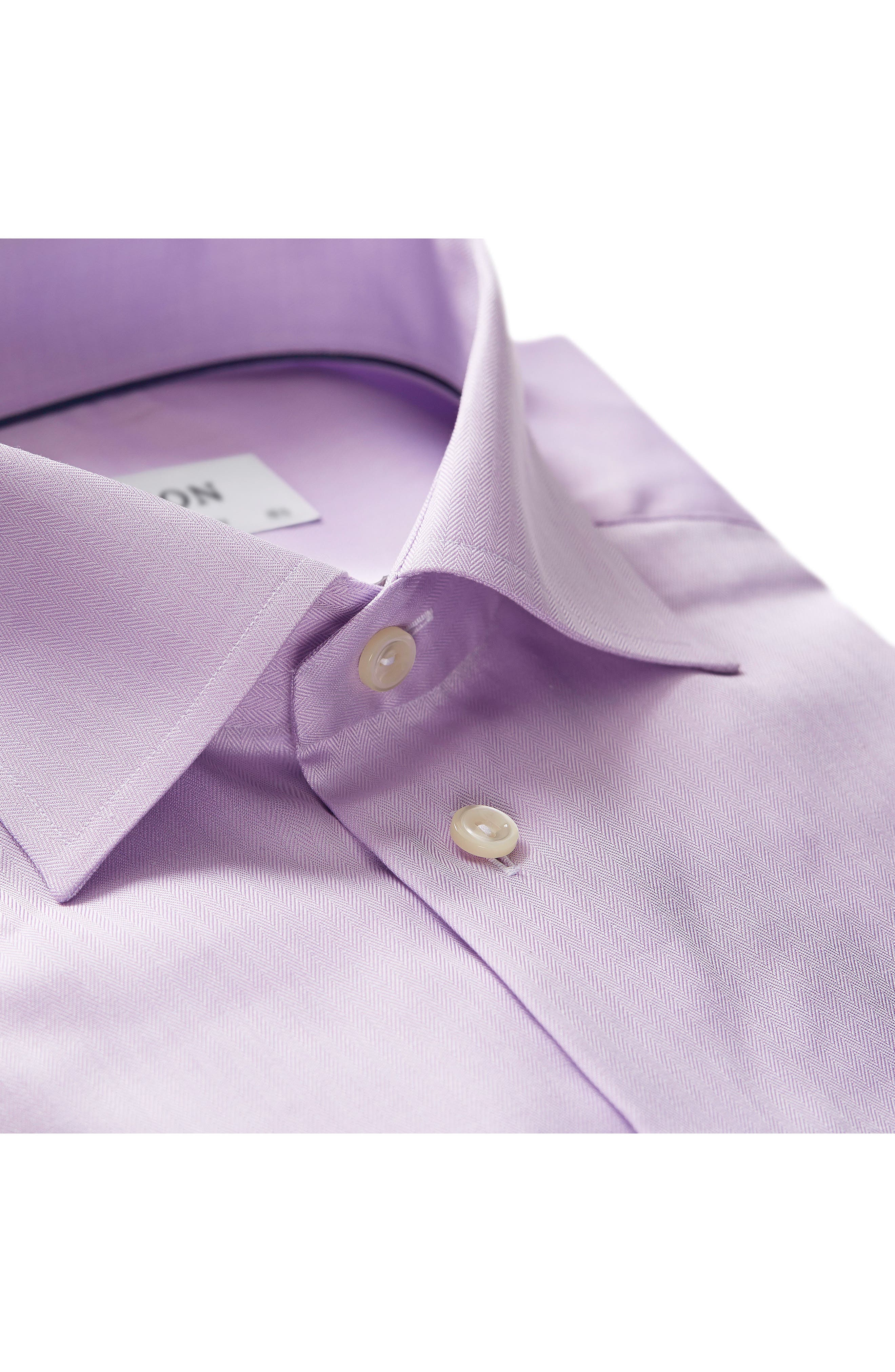 Alternate Image 2  - Eton Contemporary Fit Herringbone Dress Shirt