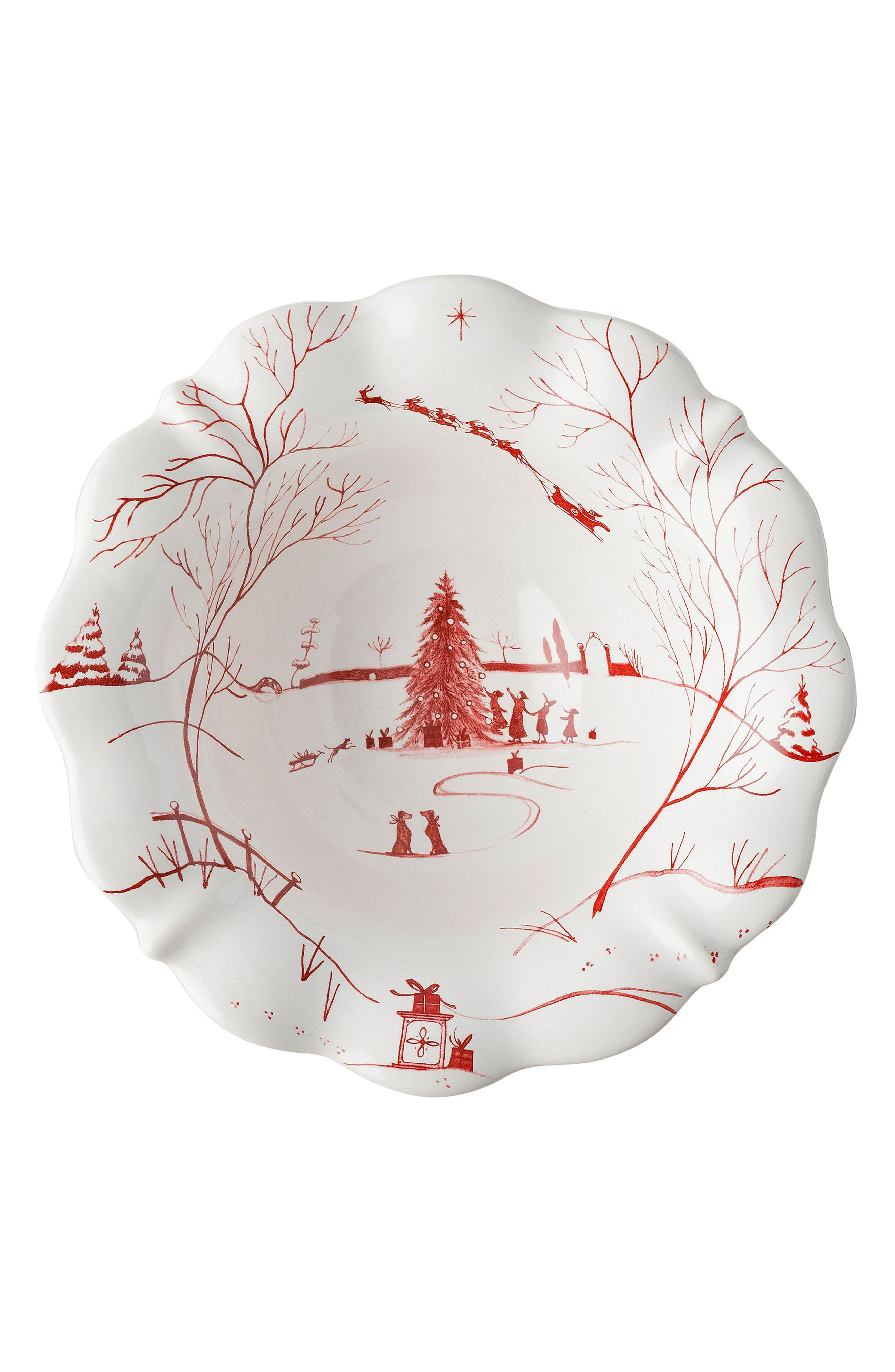 Juliska Winter Frolic Ceramic Bowl