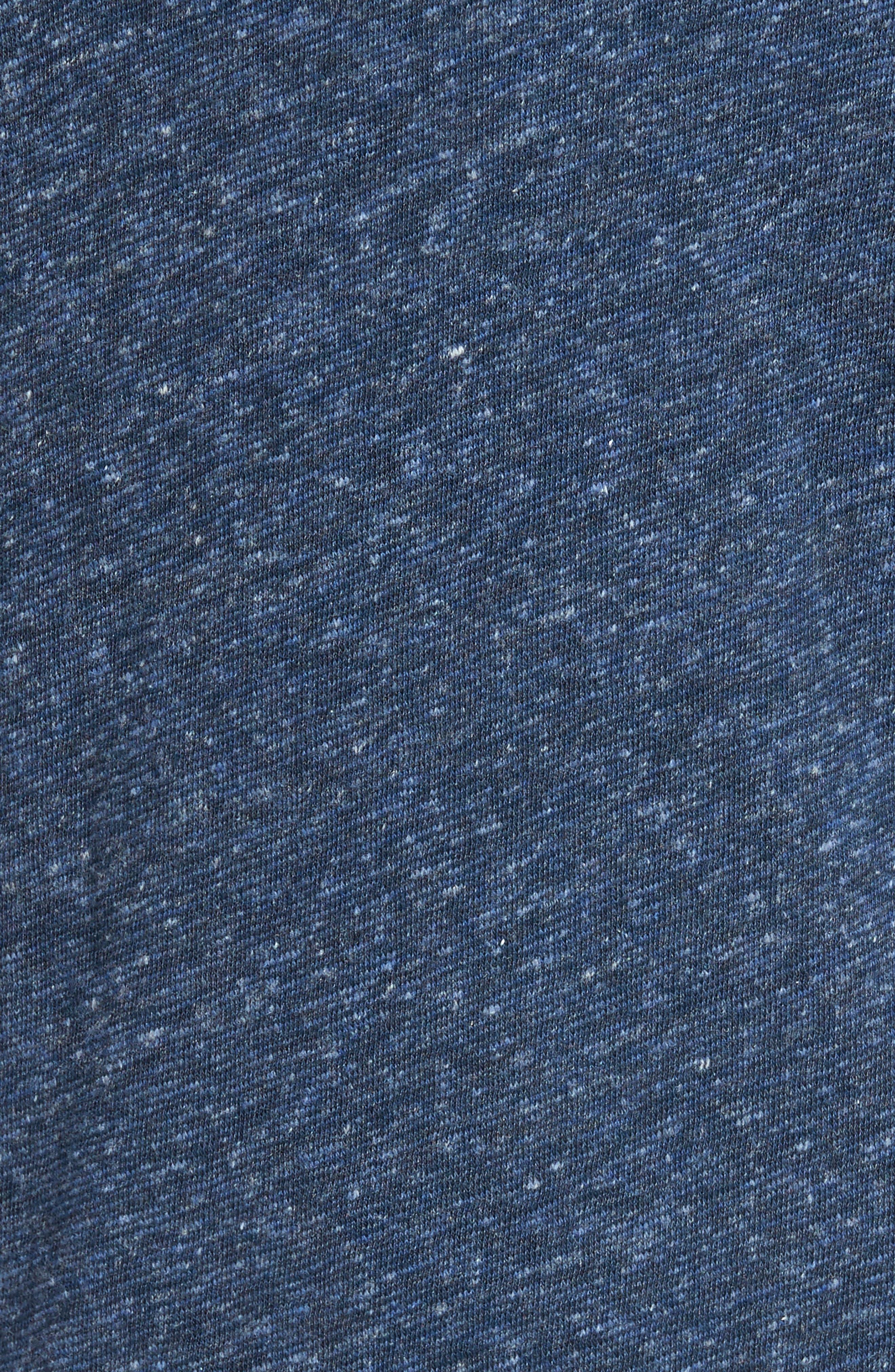 Alternate Image 5  - Faherty Heathered Reversible Long Sleeve Crewneck T-Shirt