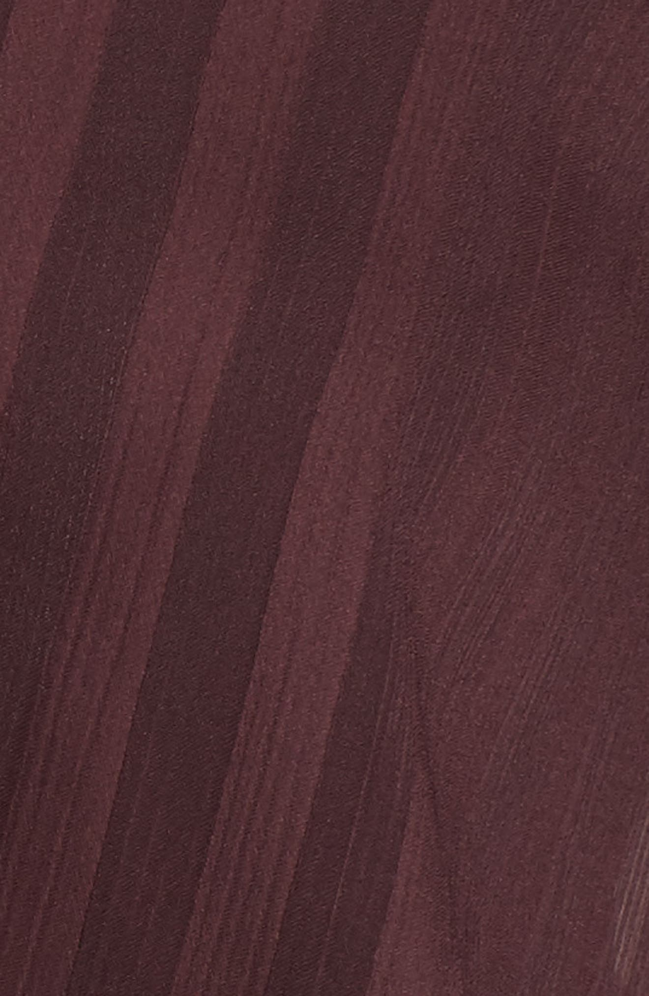 Sheer Shadow Stripe Top,                             Alternate thumbnail 5, color,                             Burgundy Stem