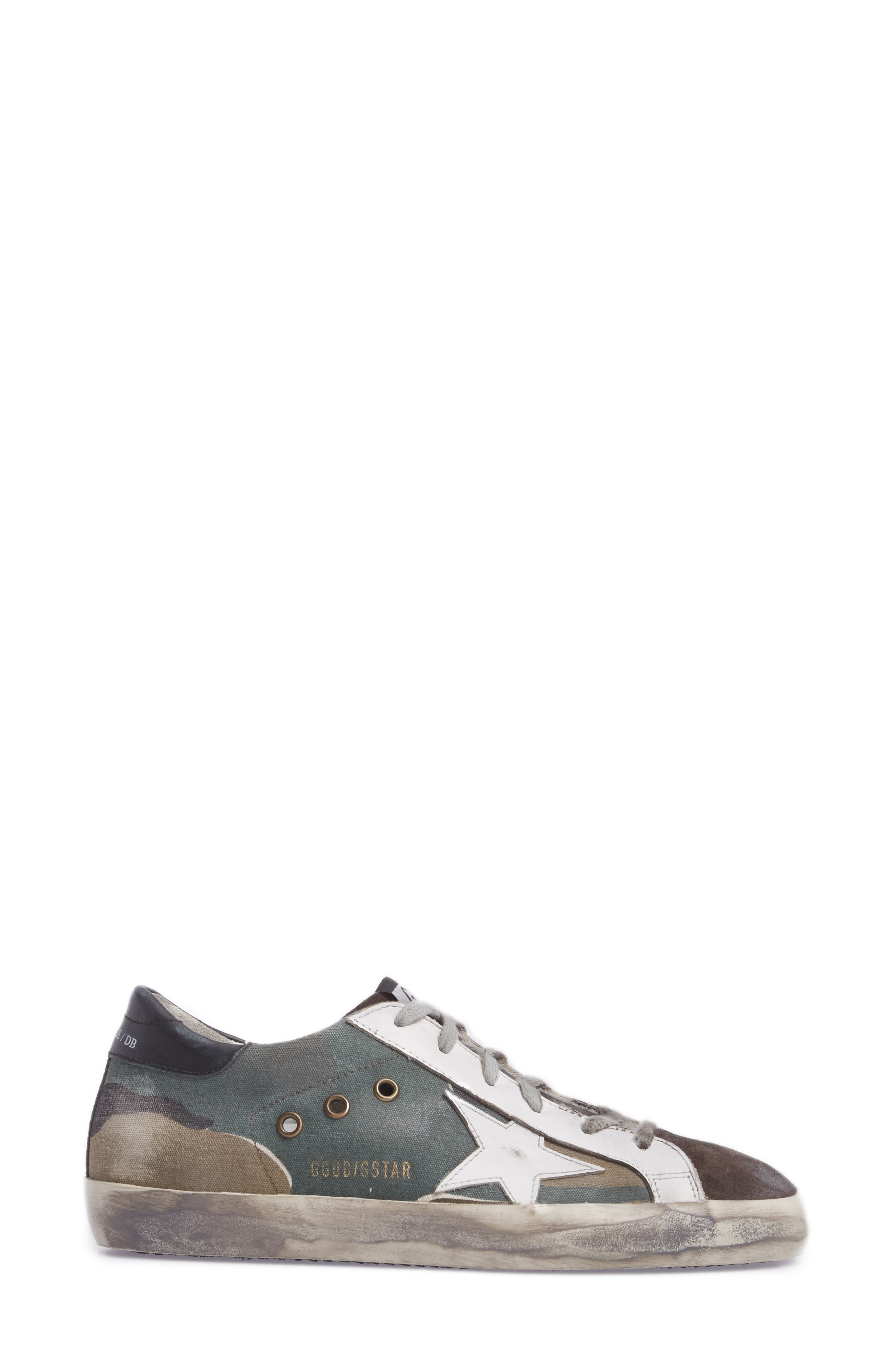 Superstar Low Top Sneaker,                             Alternate thumbnail 3, color,                             Camou Grey