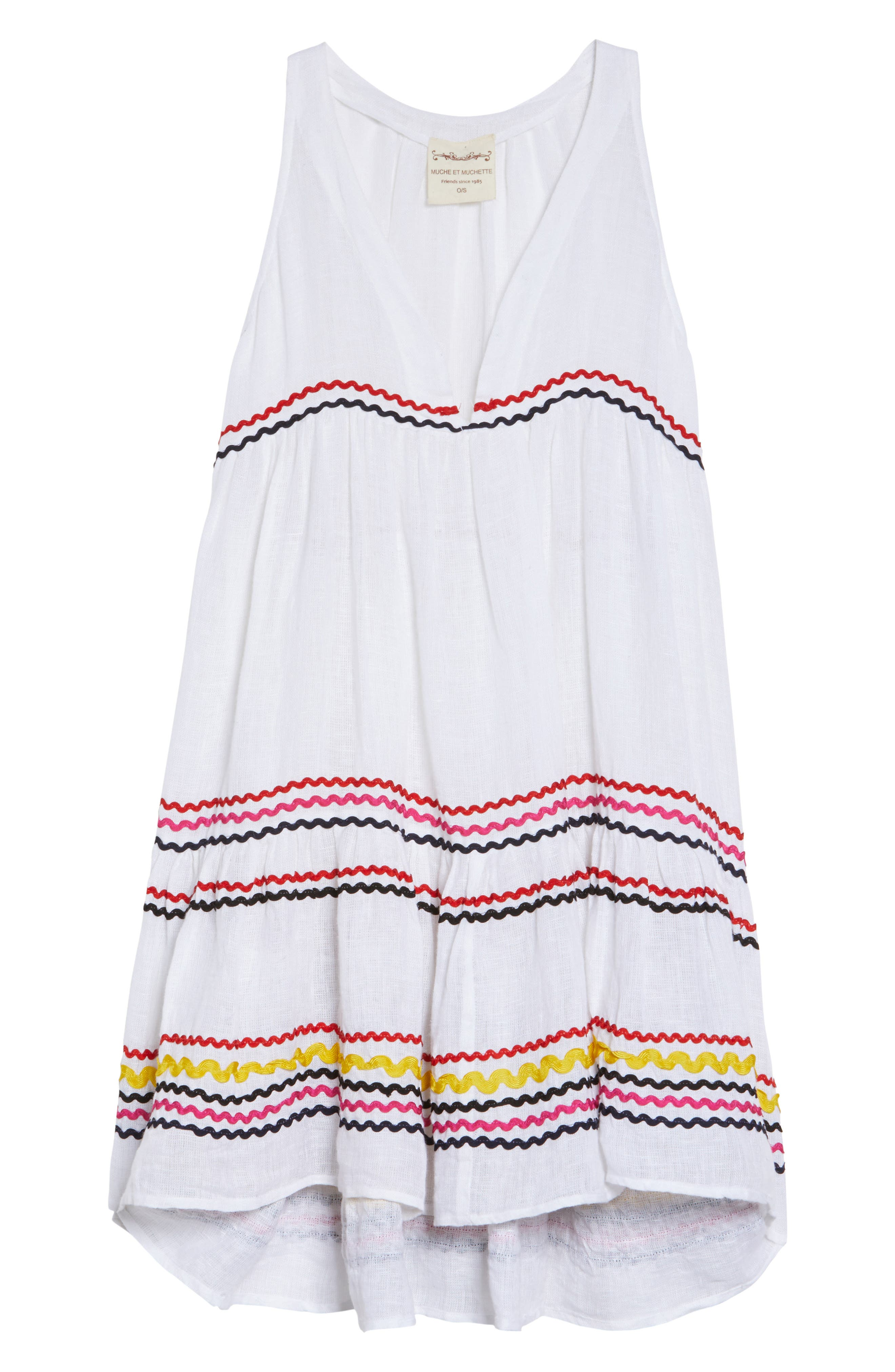 Mira Cover-Up Dress,                             Alternate thumbnail 6, color,                             Multi White