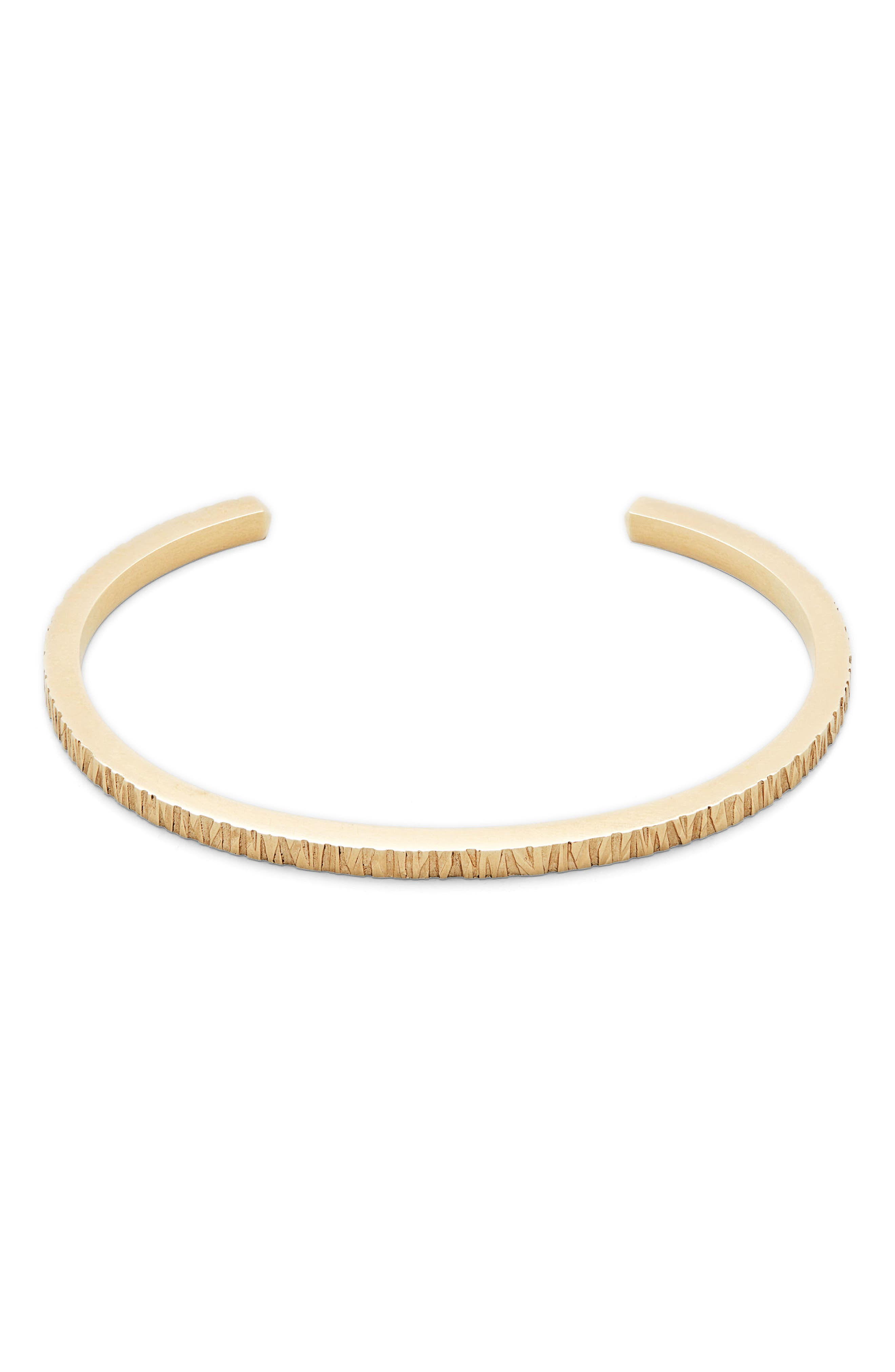 Structured Cuff Bracelet,                             Main thumbnail 1, color,                             9K Gold