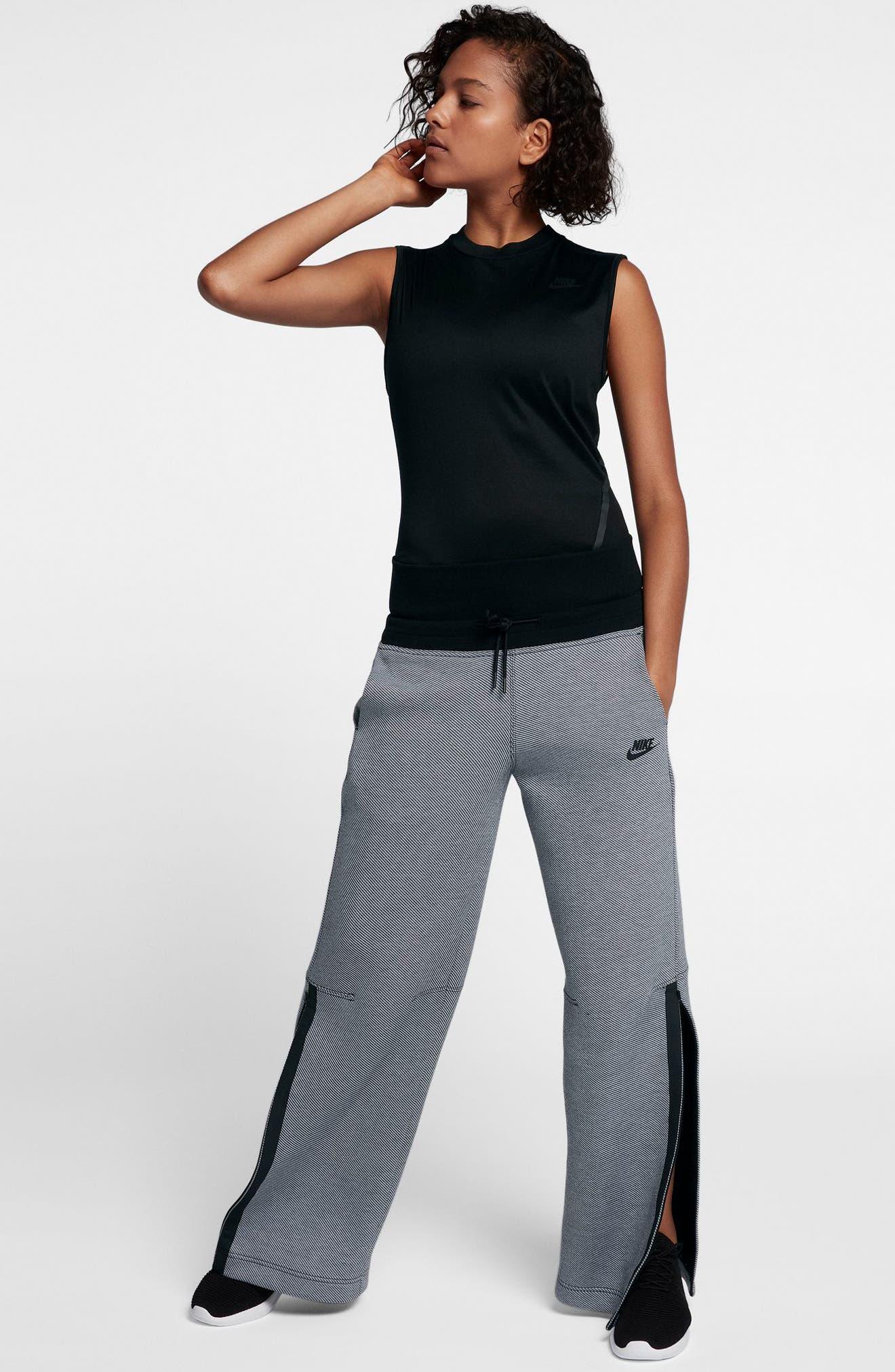 Drawstring Technical Pants,                             Alternate thumbnail 2, color,                             Black/ Black