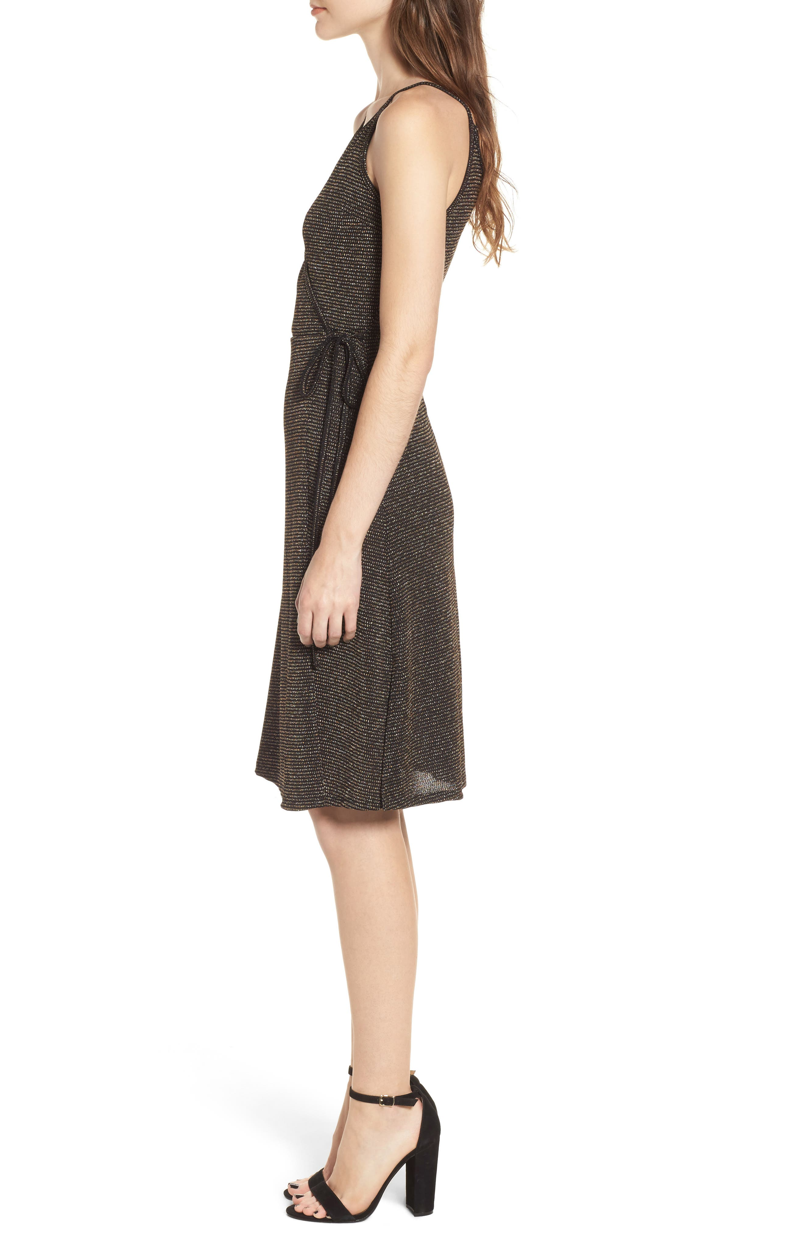 Alternate Image 3  - Ten Sixty Sherman Metallic Stripe Wrap Dress