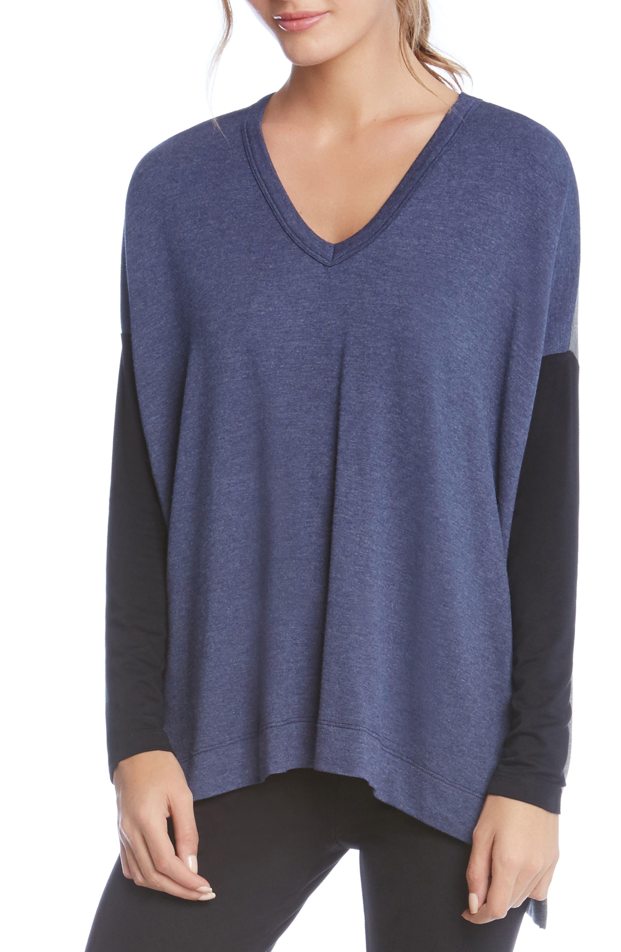 Colorblock Sweatshirt,                         Main,                         color, Indigo