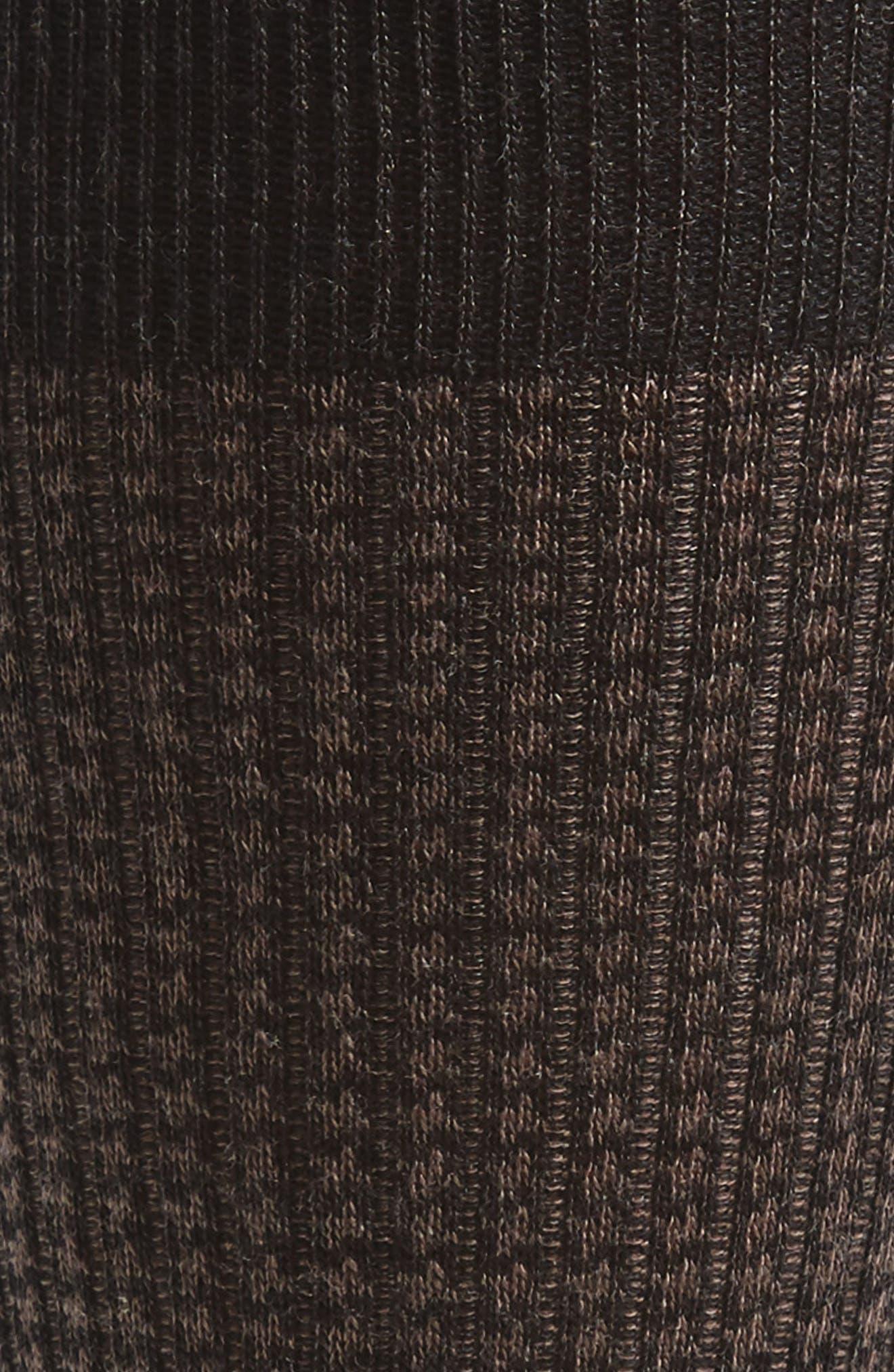 Alternate Image 2  - Pantherella Houndstooth Wool Blend Socks
