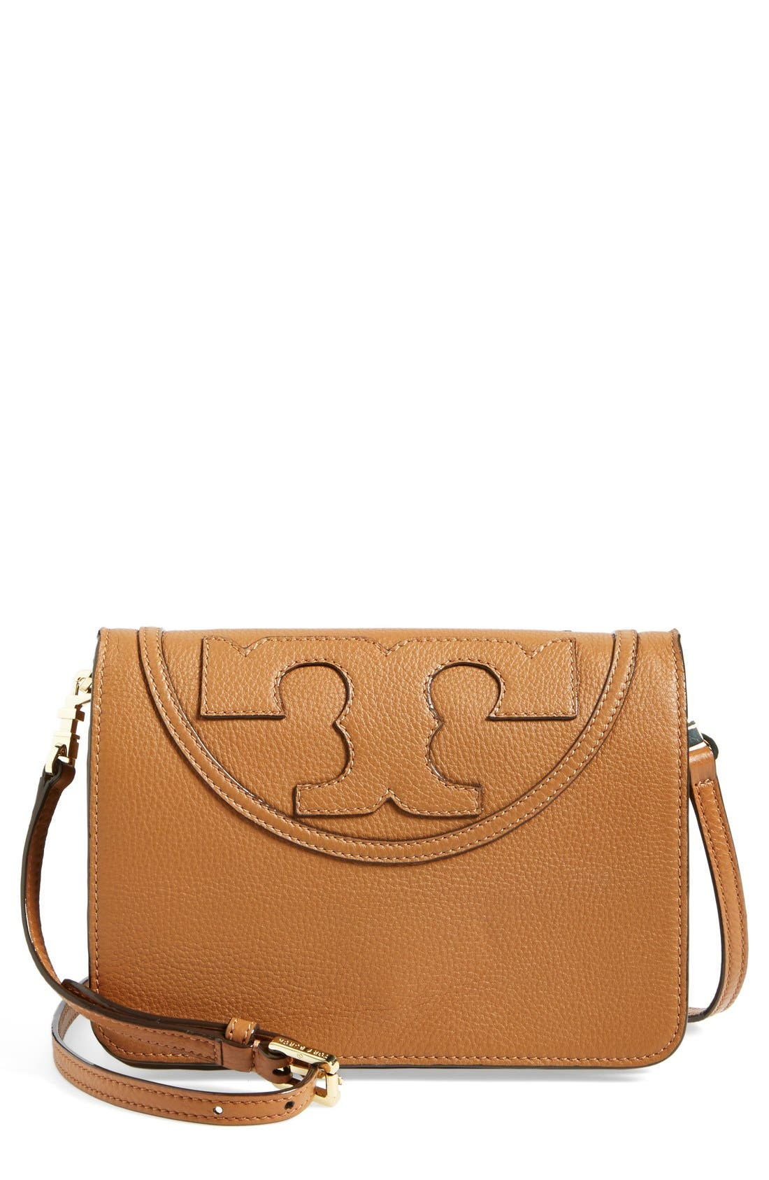 Alternate Image 1 Selected - Tory Burch 'All-T' Leather Crossbody Bag