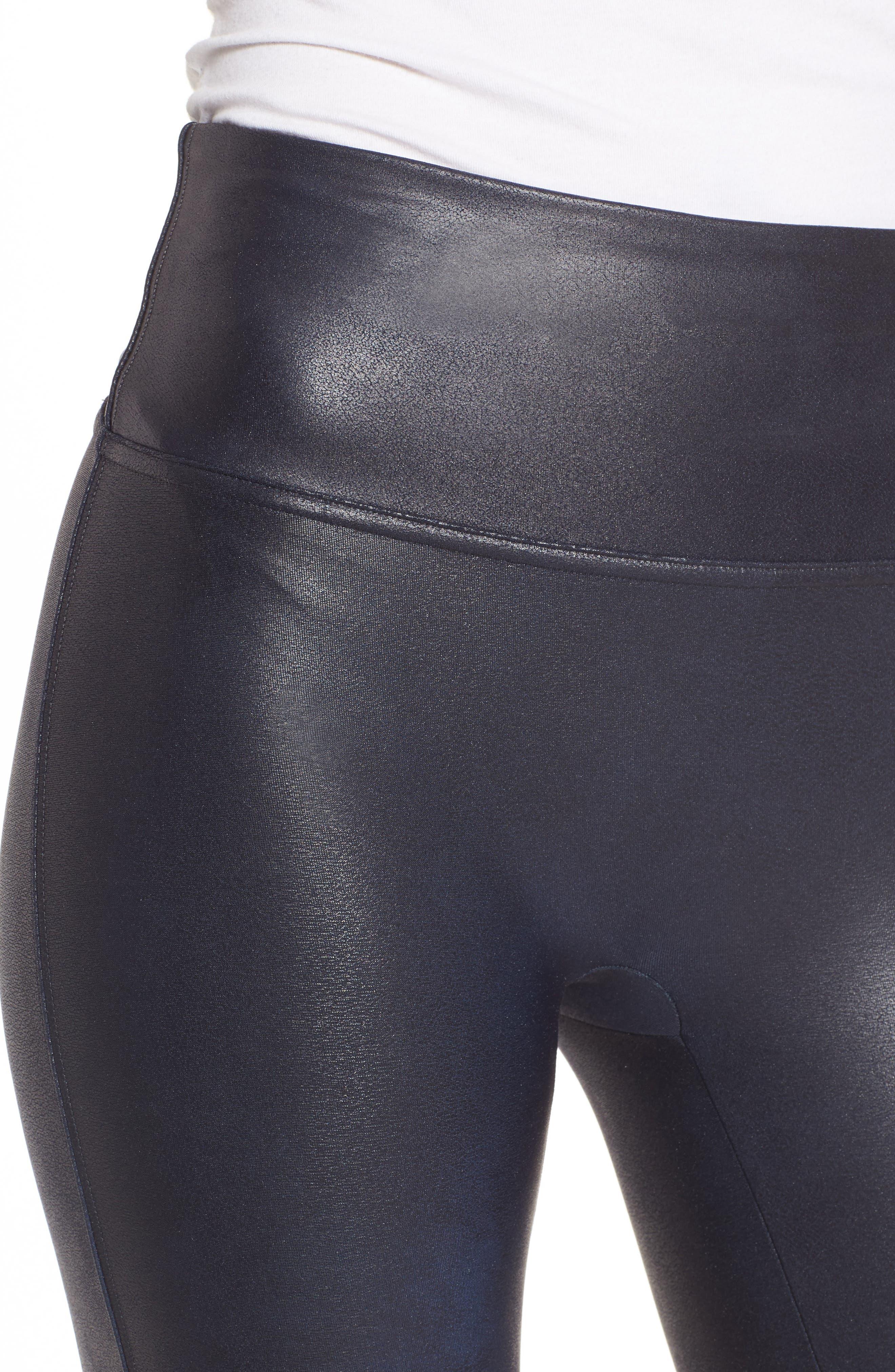 Alternate Image 4  - SPANX® Faux Leather Leggings