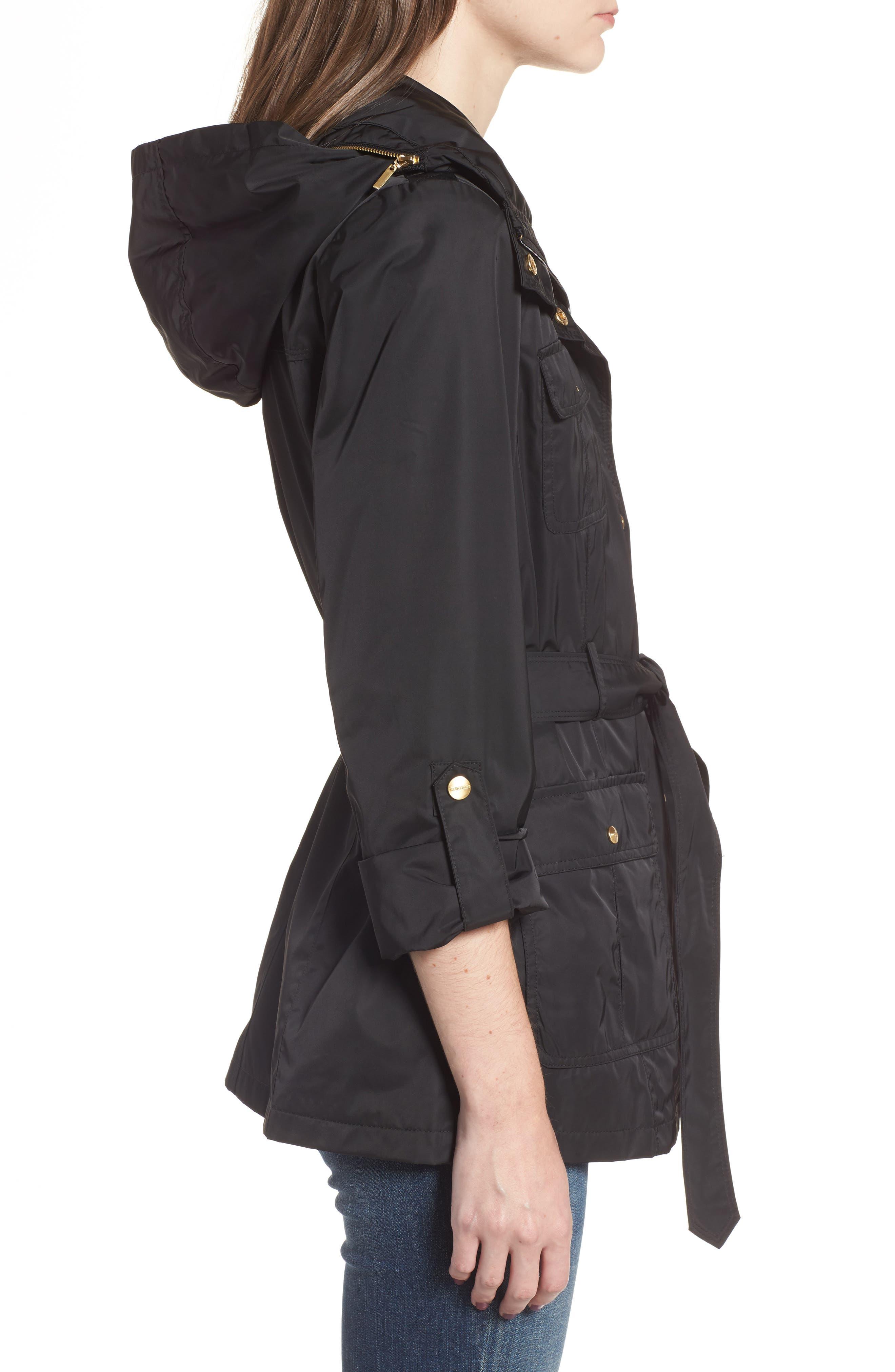 Alternate Image 3  - Ellen Tracy Techno Short Trench Coat (Regular & Petite)