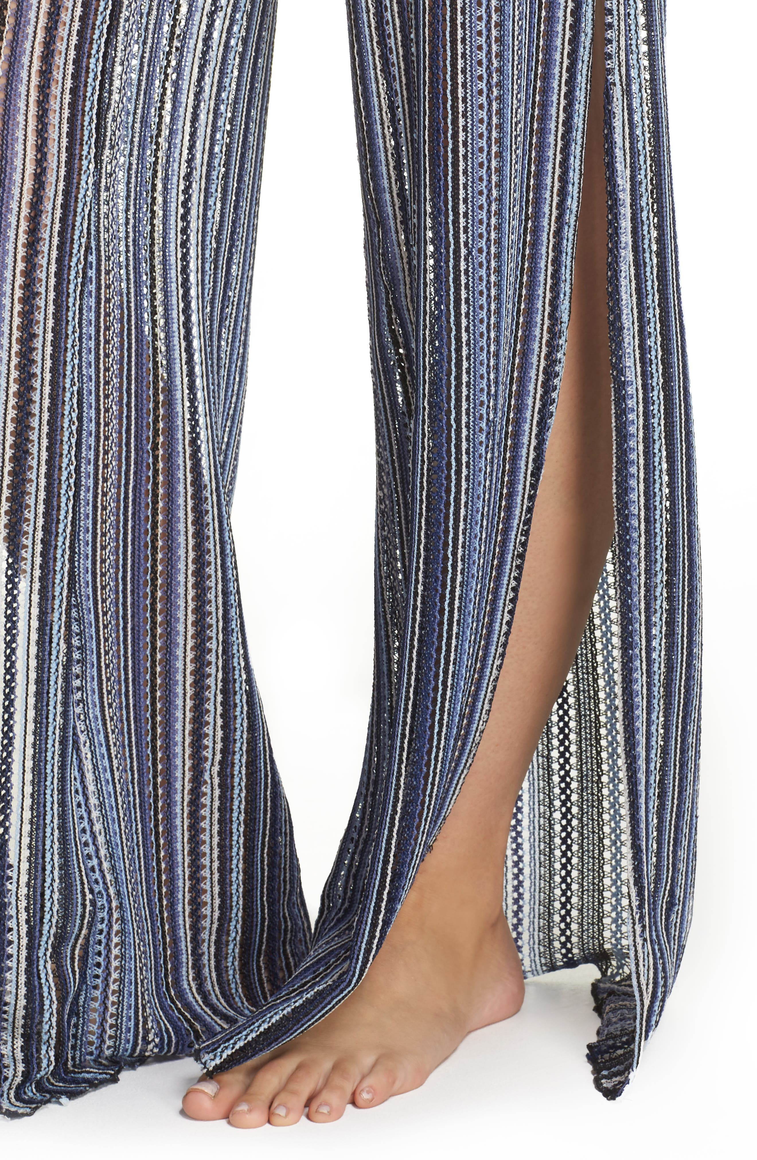 Pierside Cover-Up Flyaway Pants,                             Alternate thumbnail 4, color,                             Multi