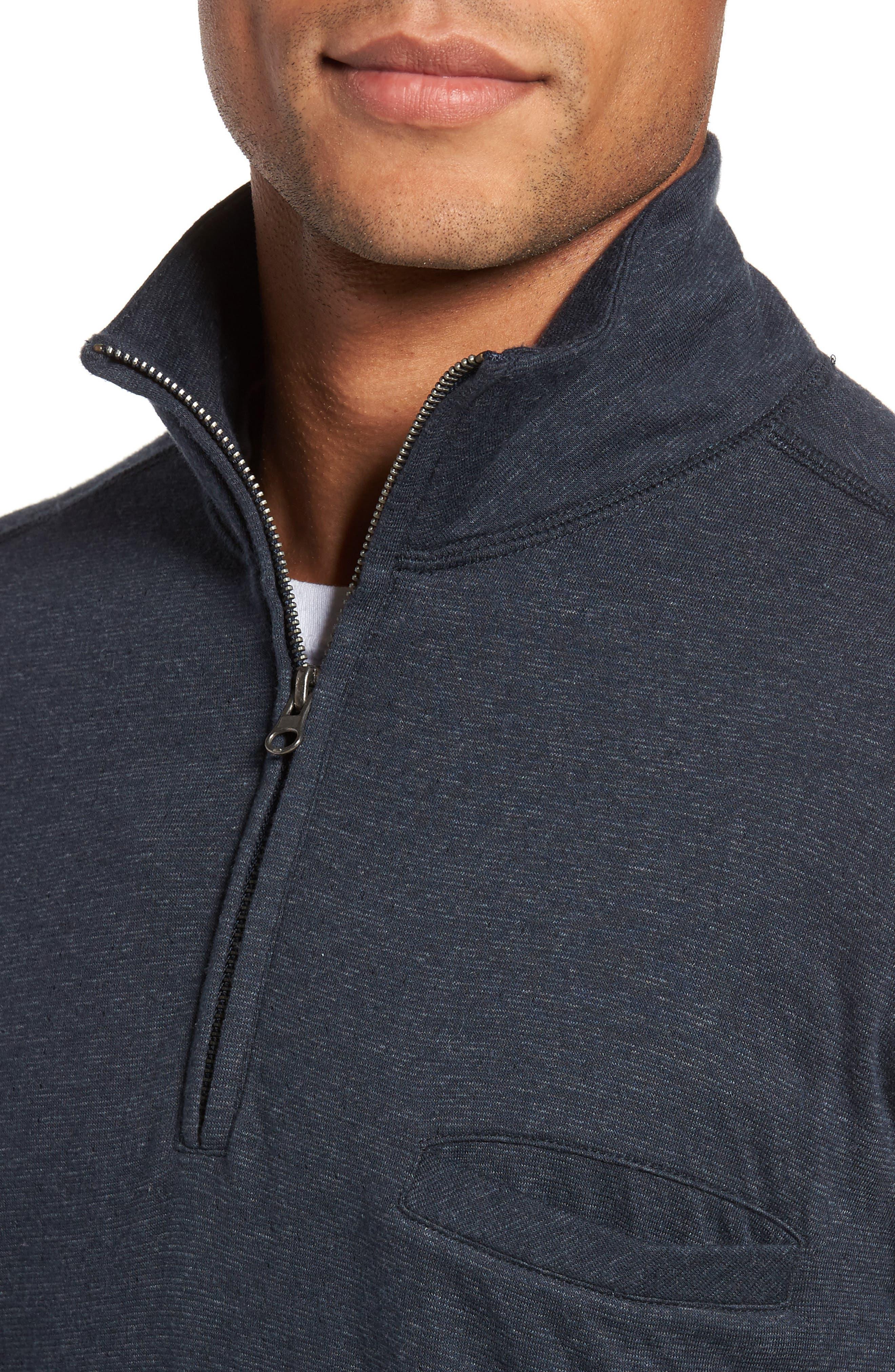 Jordan Quarter Zip Pullover,                             Alternate thumbnail 4, color,                             Carbon Blue
