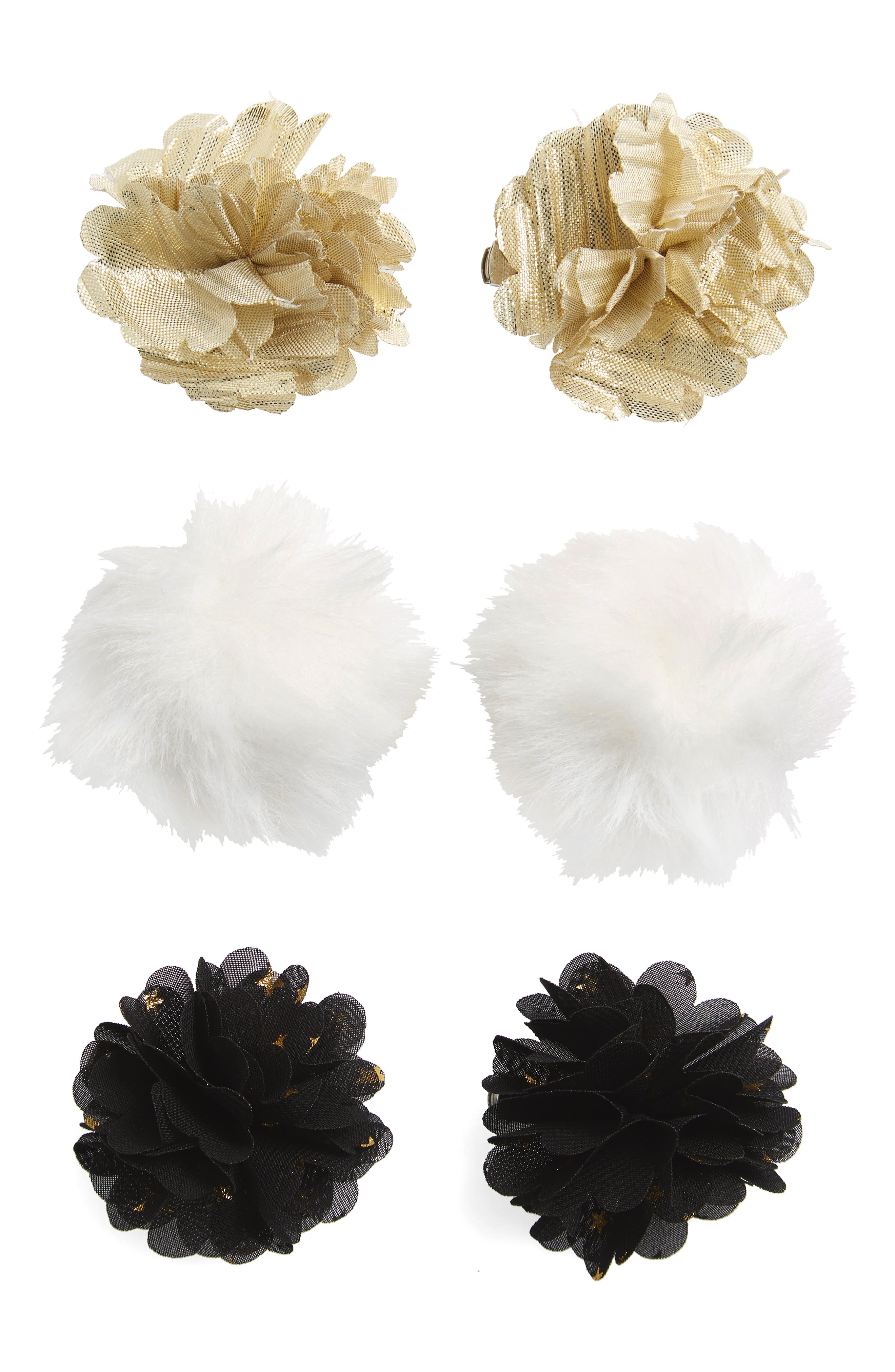 Capelli of New York 6-Pack Flower Hair Clips (Big Girls)