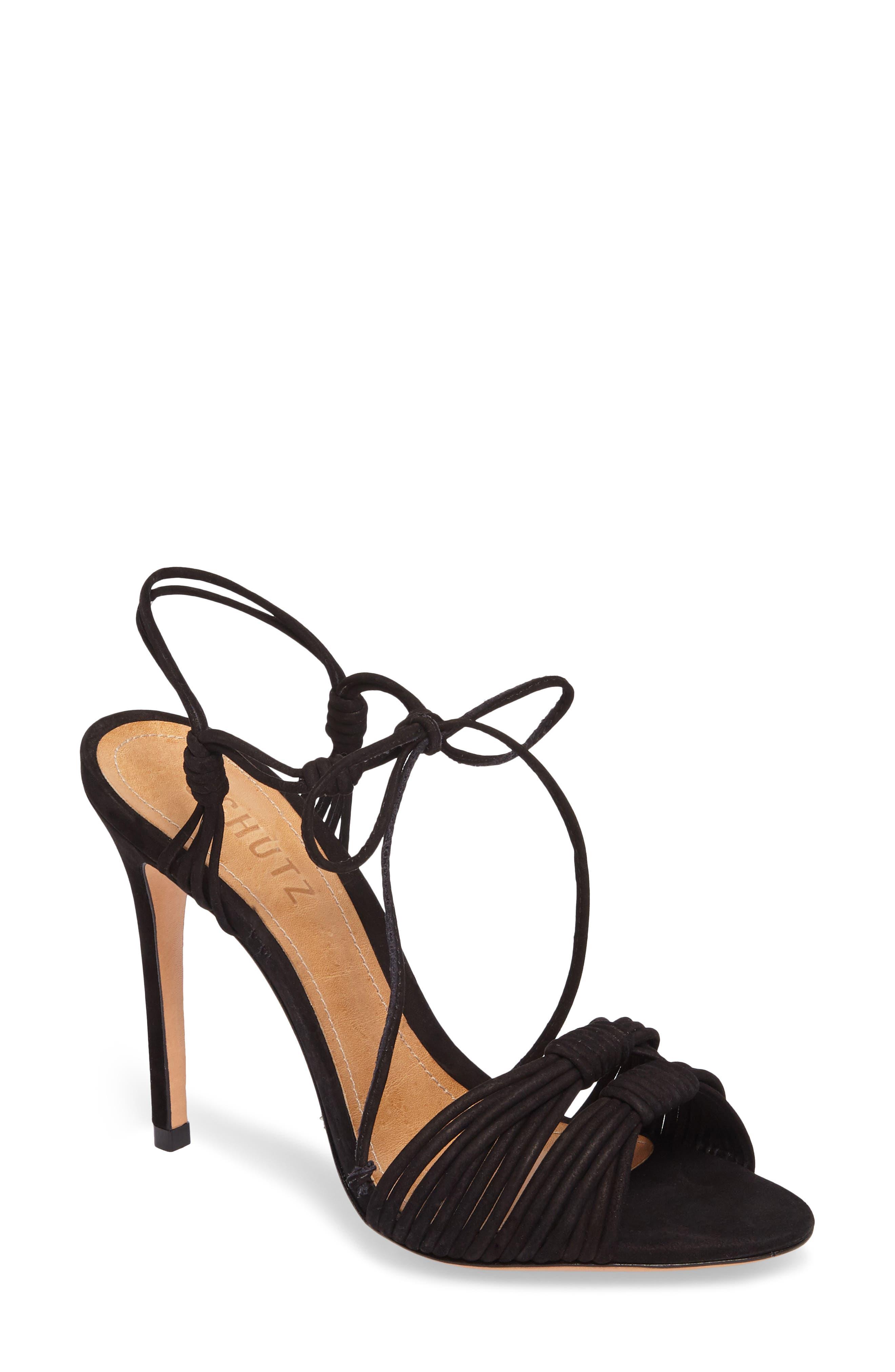 Tammi Sandal,                         Main,                         color, Black Nubuck Leather