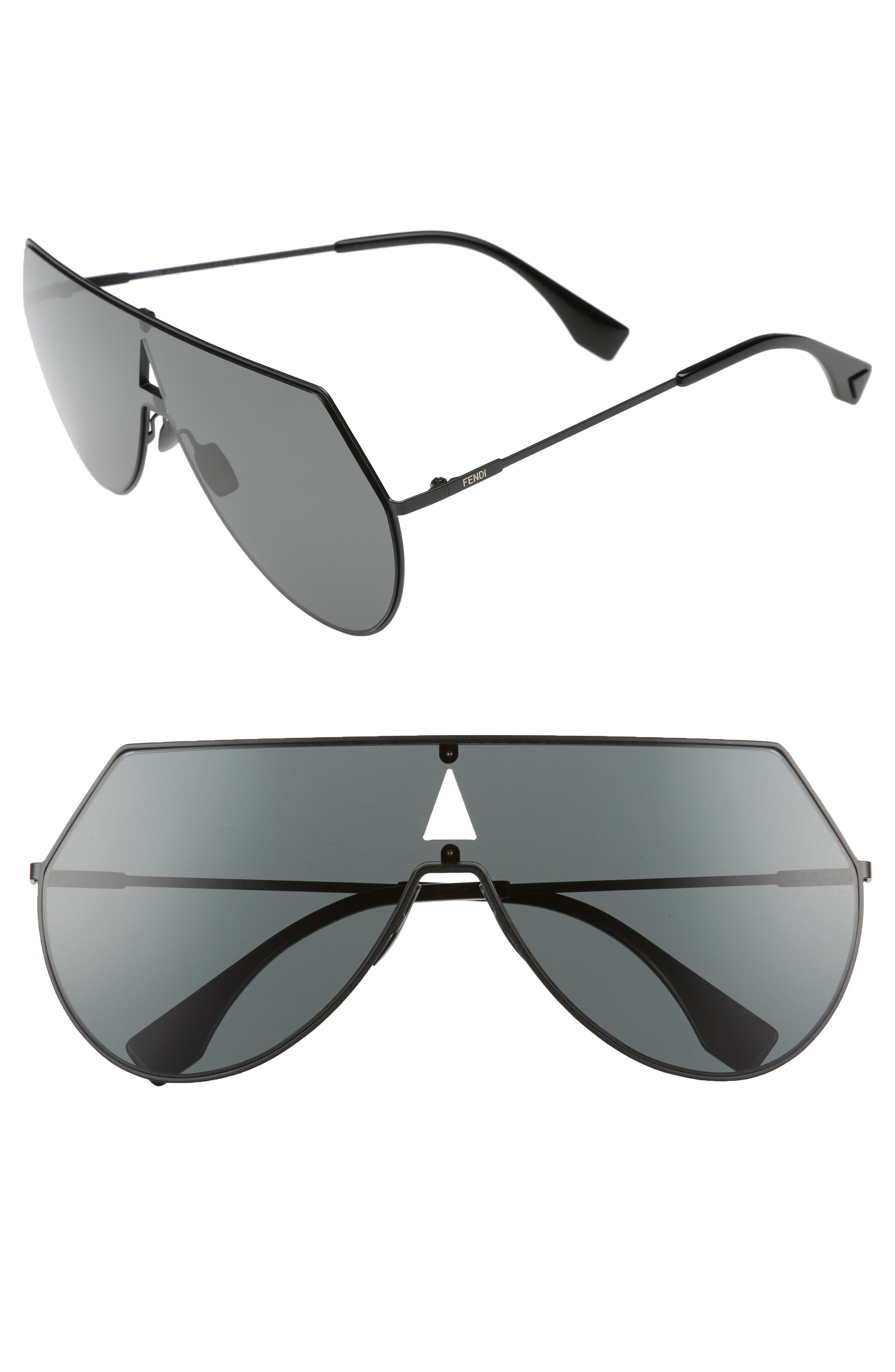 99mm Eyeline Aviator Sunglasses,                             Main thumbnail 1, color,                             Black