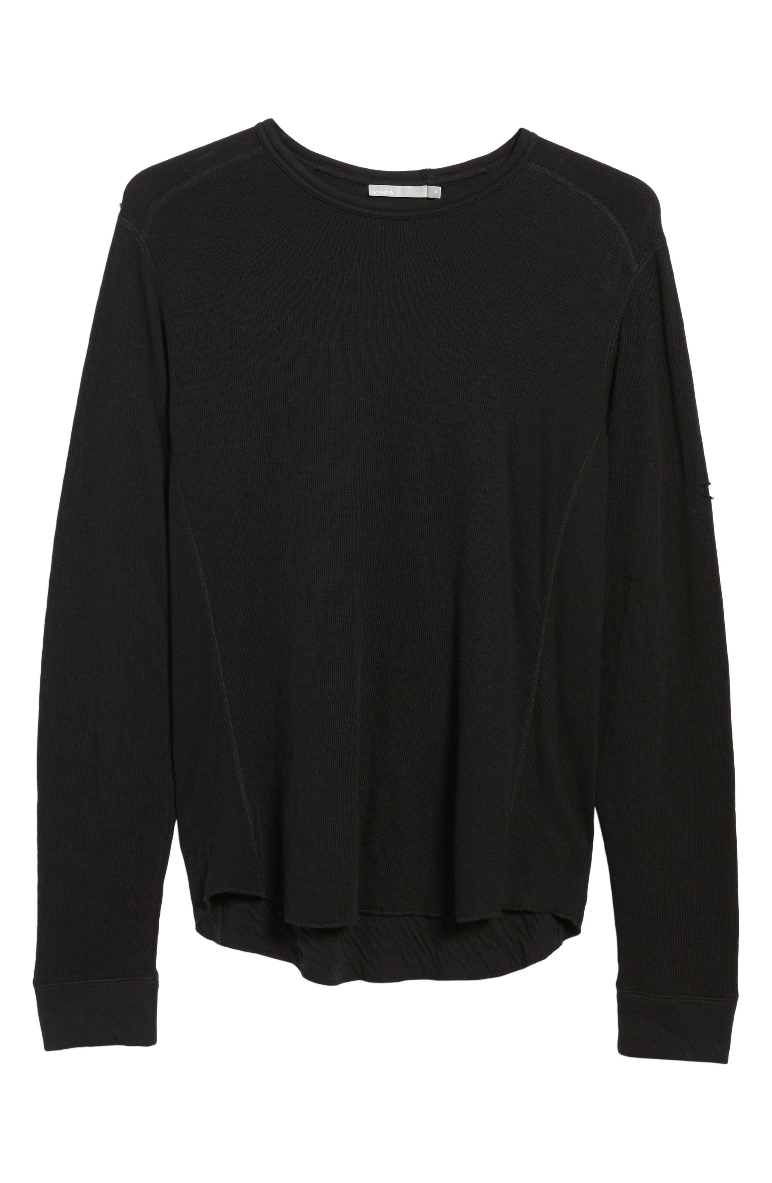 Alternate Image 7  - Vince Double Knit Long Sleeve T-Shirt