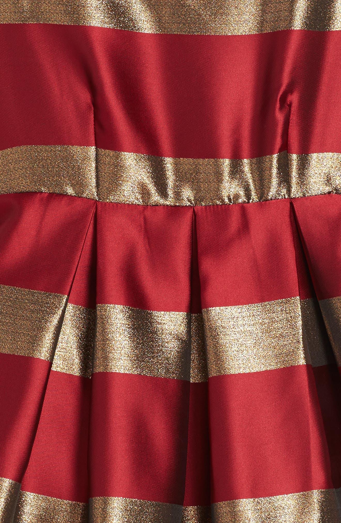 Alternate Image 3  - Frais Stripe Fit & Flare Dress (Big Girls)