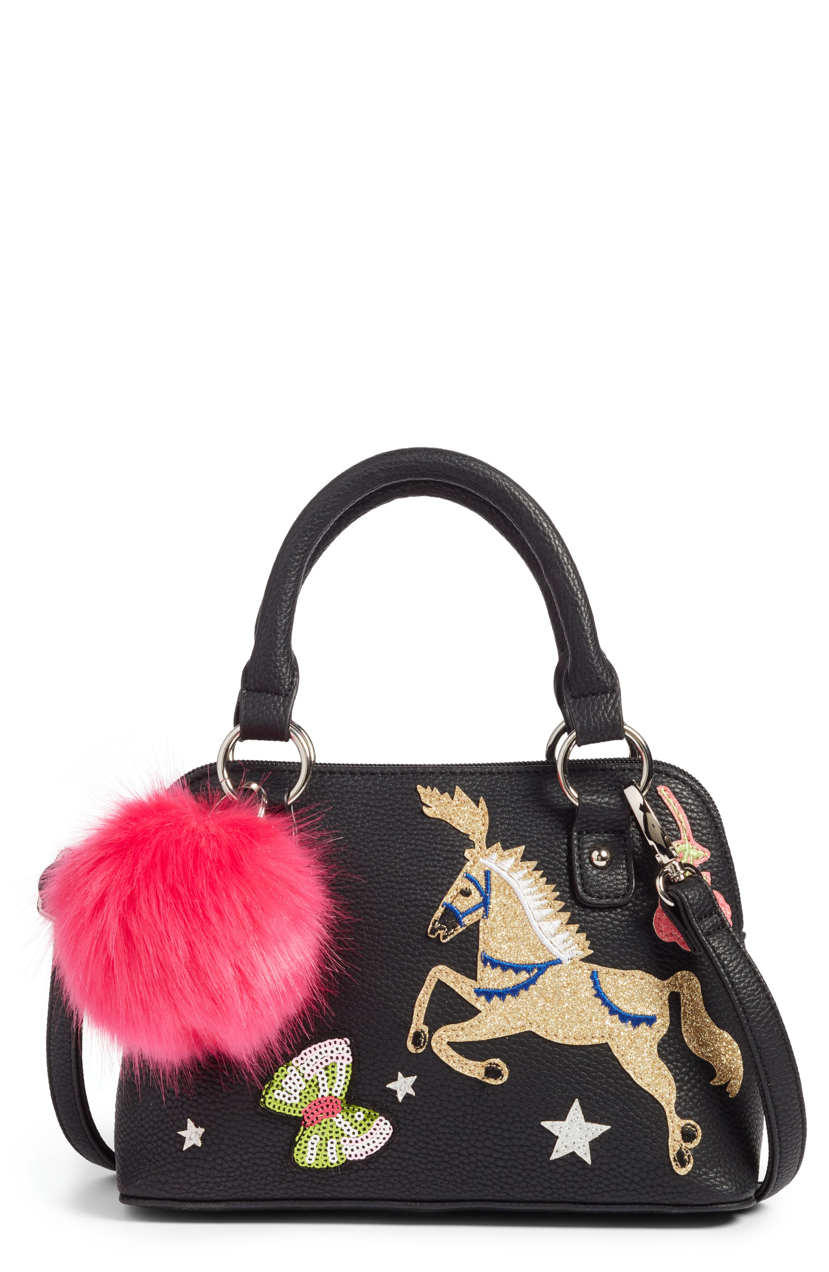 Alternate Image 1 Selected - Hannah Banana Appliqué Handbag (Girls)
